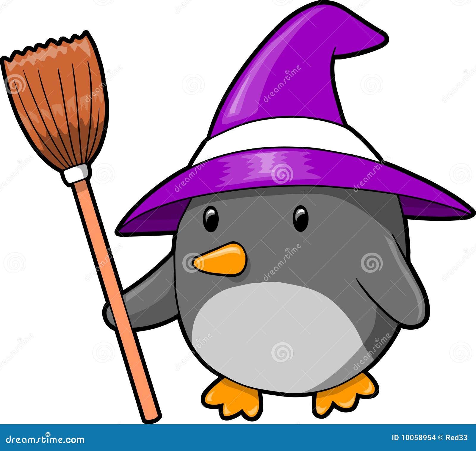 halloween penguin vector illustration stock vector image Christmas Penguin Clip Art cute penguin clipart digital