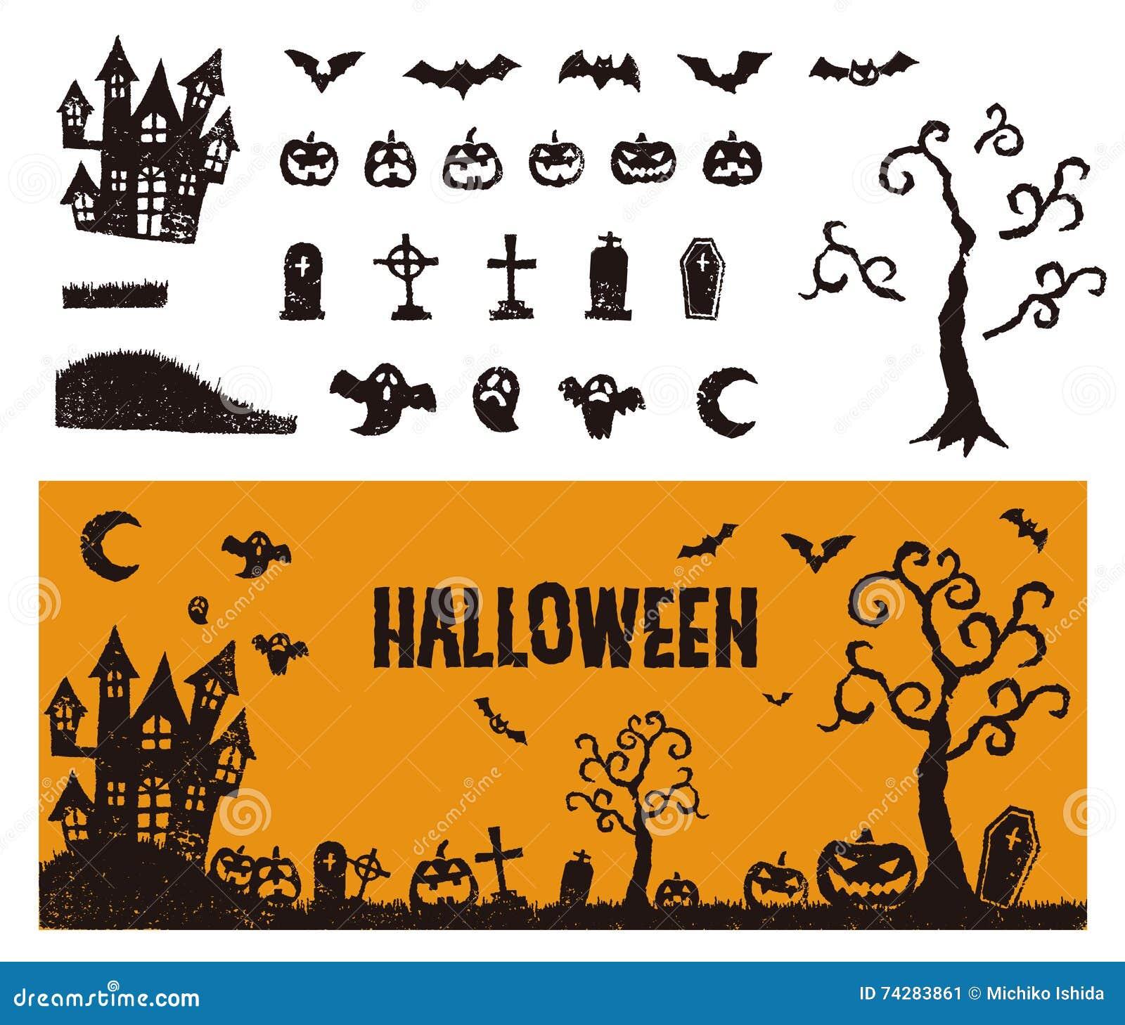 Halloween-pictogram met een banner