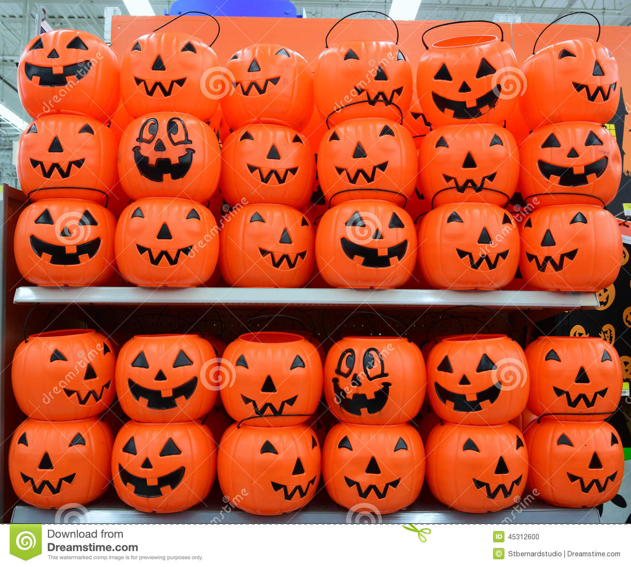 annually around basket common halloween october plastic pumpkins - Plastic Pumpkins