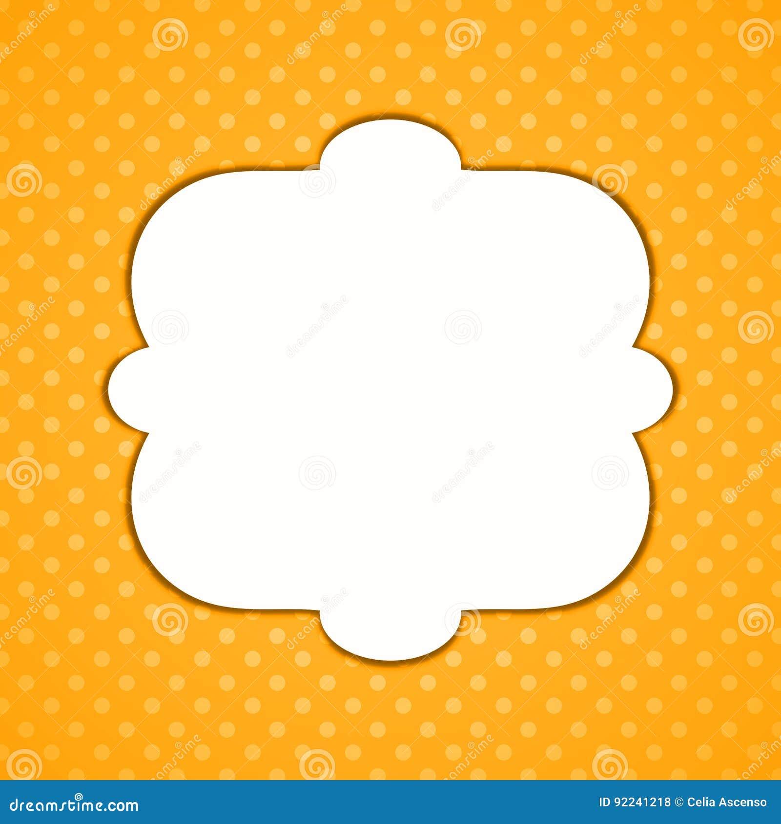 Halloween polka dots border frame
