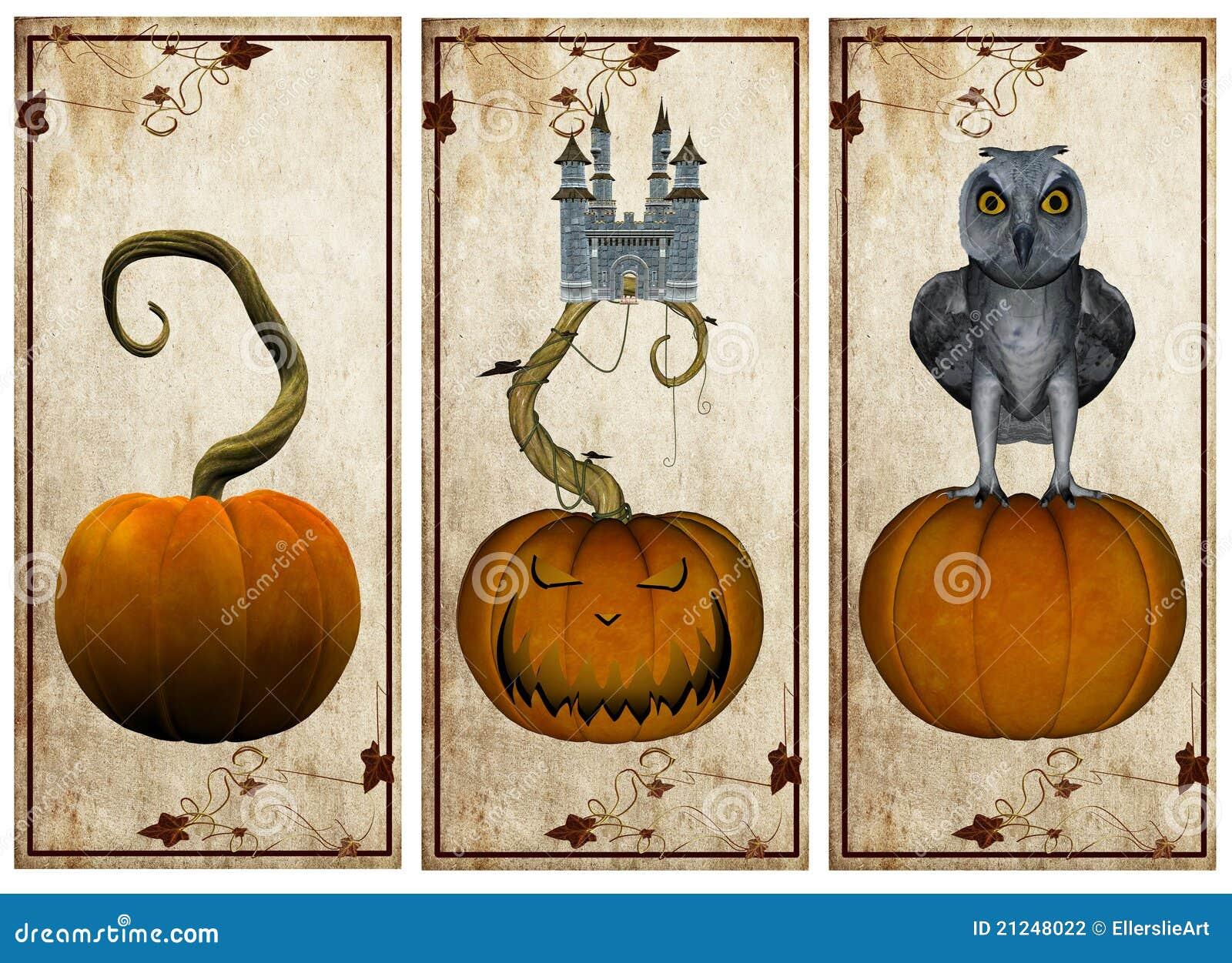 Halloween Postcards Stock Illustration Of