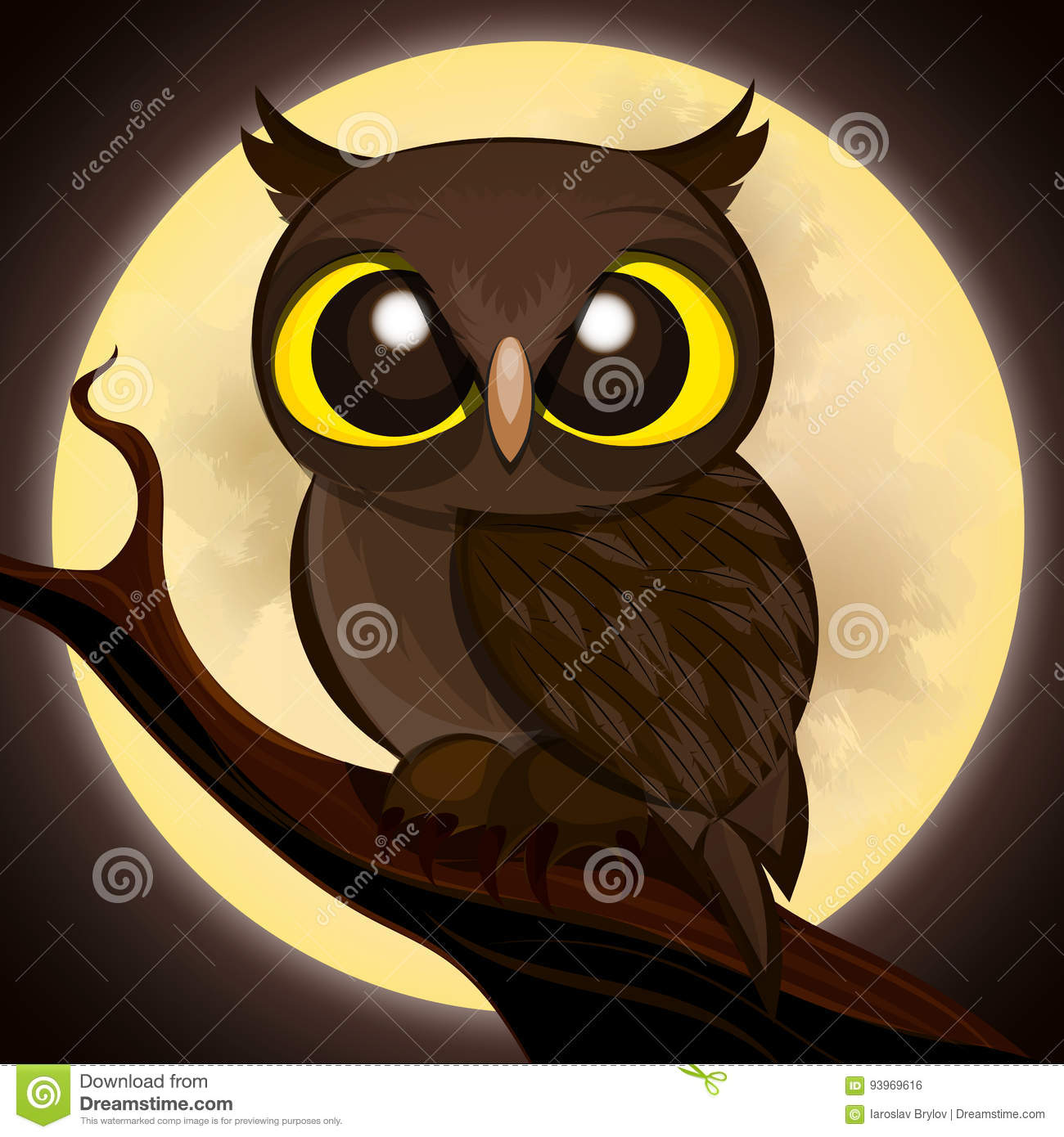 halloween poster owl stock vector. illustration of happy - 93969616