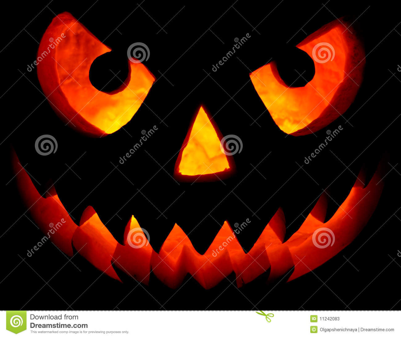 Halloween Pumpkin On Black Stock Photos - Image: 11242083