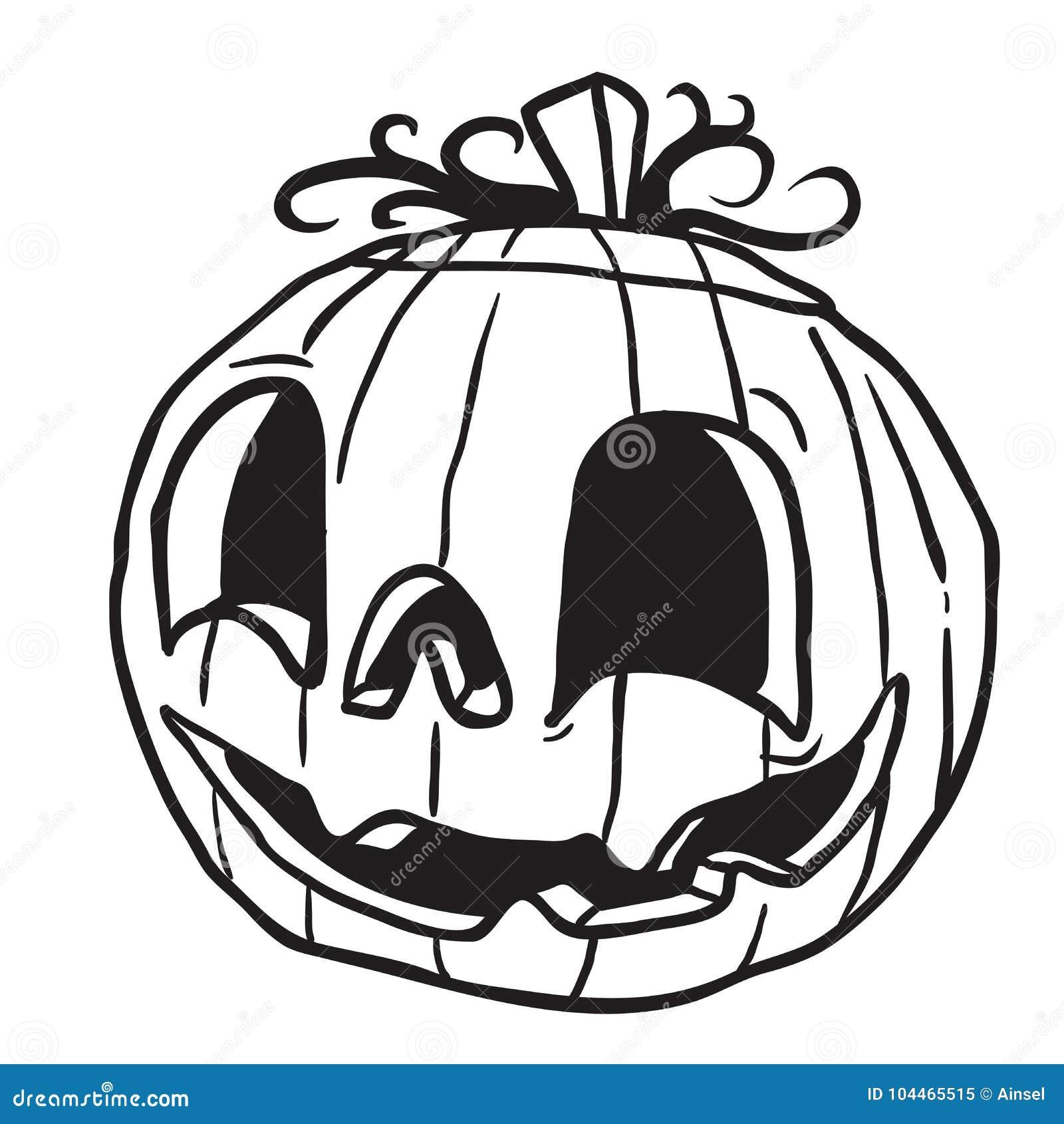 Halloween Pumpkin Black Stock Illustration Illustration Of Horror