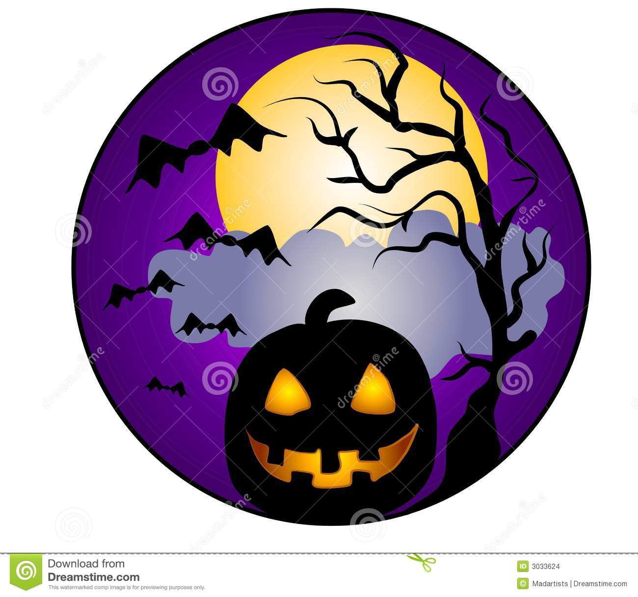 halloween pumpkin clip art stock illustration illustration of rh dreamstime com Scary Halloween Clip Art Free free clipart images for halloween
