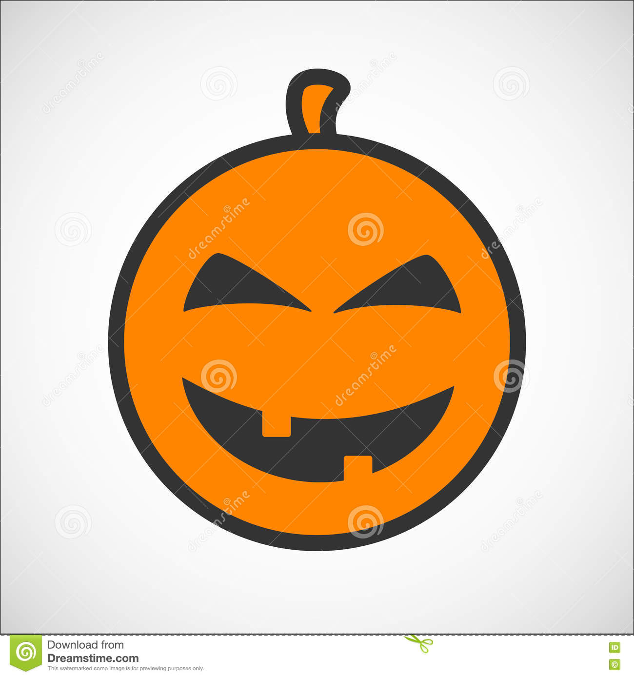 Halloween Pumpkin Color Smiley Icon Stock Vector - Illustration of ...