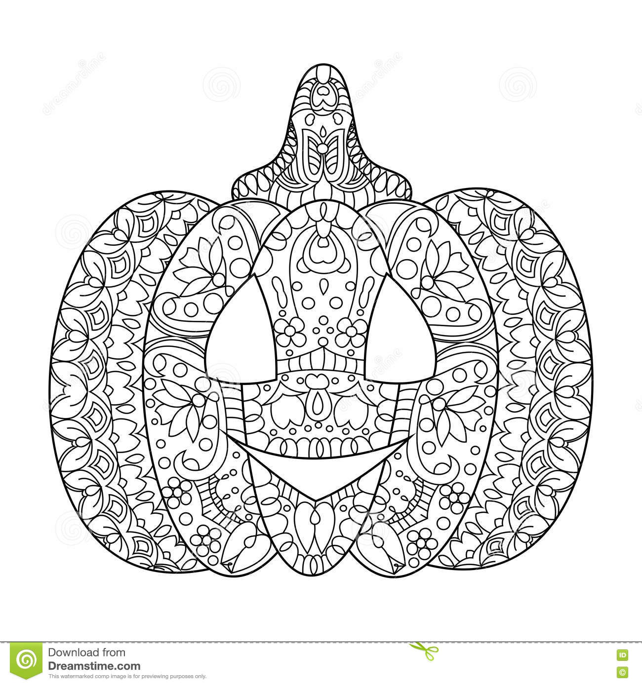 Halloween Pumpkin Coloring Book Vector Stock Vector - Illustration ...