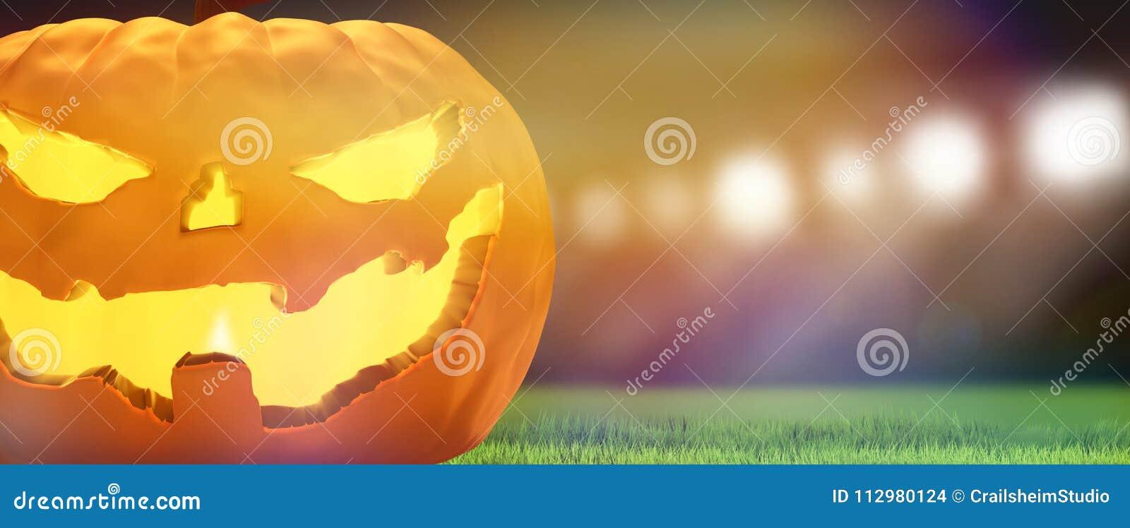 Halloween pumpkin 3d rendering background