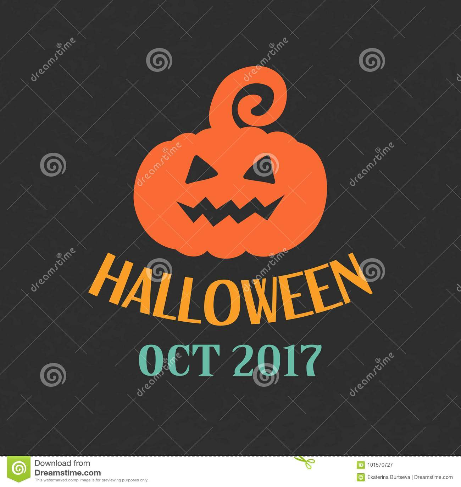 Halloween Pumpkin Emblem Template, Logo Badge Stock Vector ...