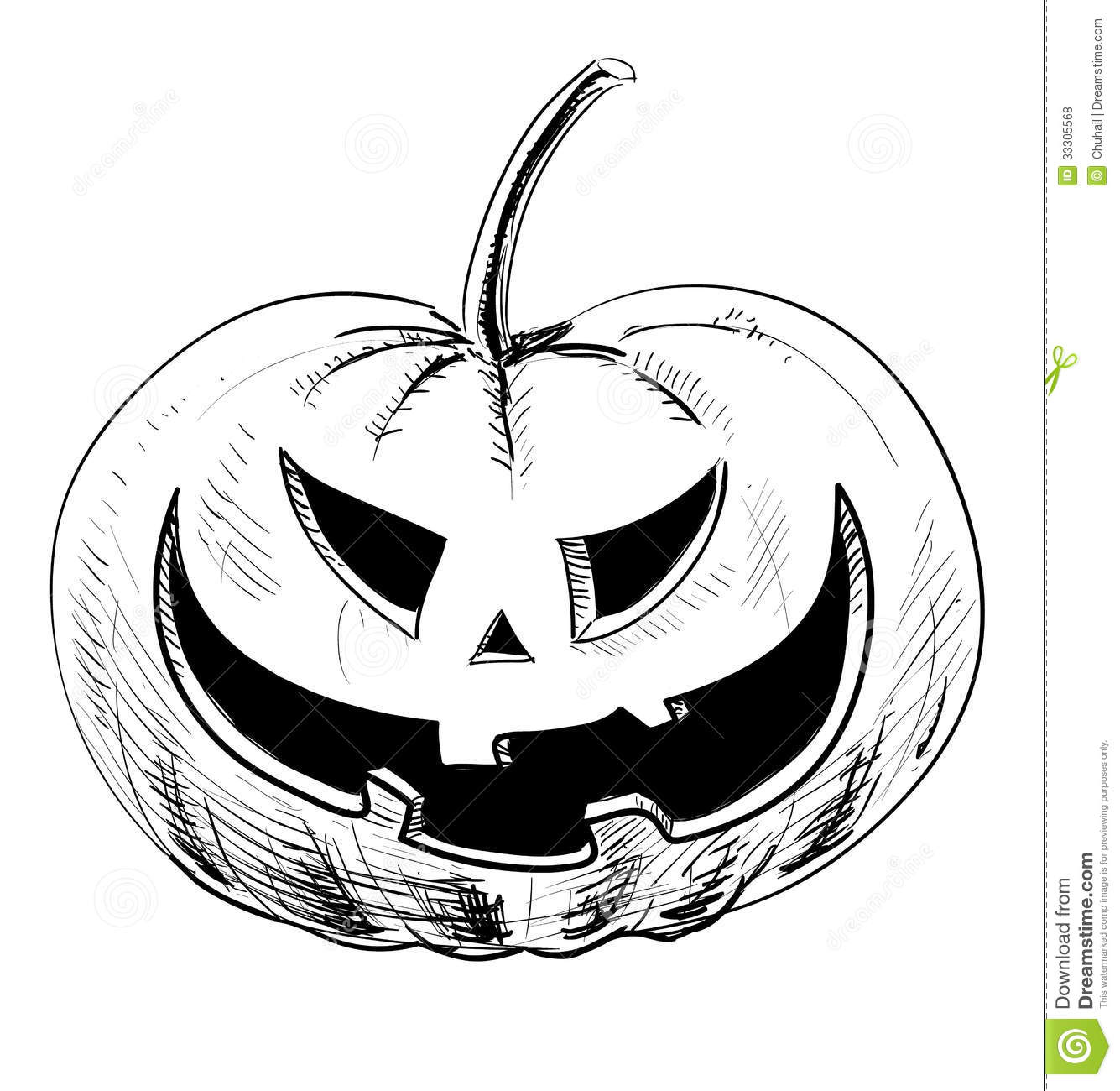 Halloween Pumpkin With Evil Scary Smile Stock Vector ...