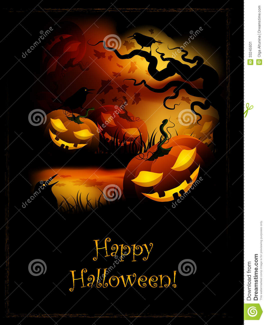 Halloween Pumpkin Stock Image - Image: 33245931