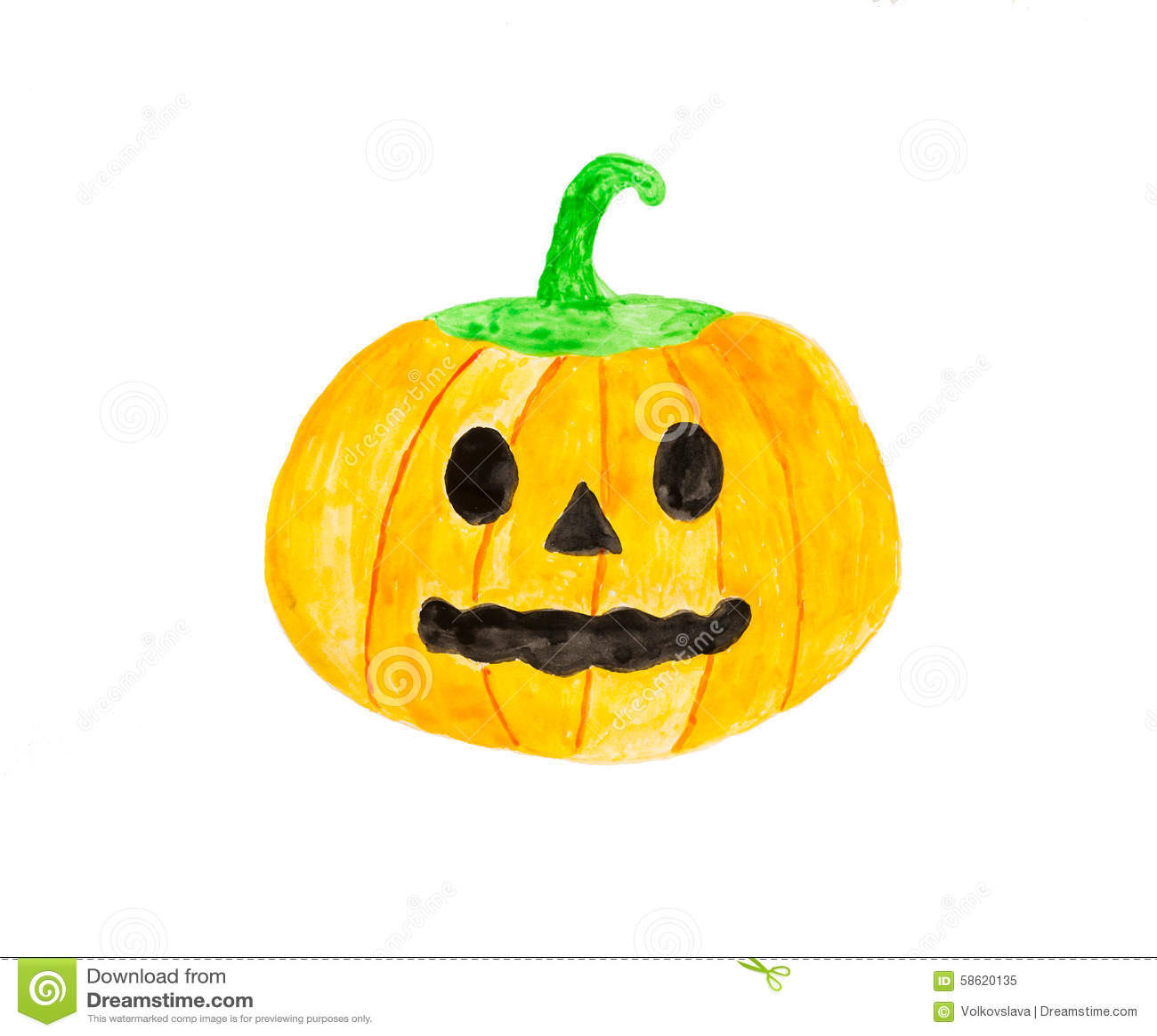 halloween watercolor hand drawn artistic