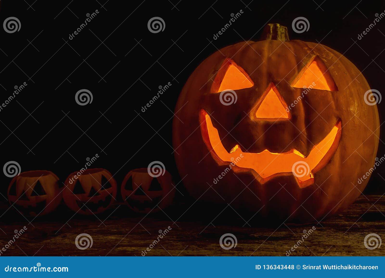 Halloween Pumpkin Heads Jack O Lantern Stock Photo - Image