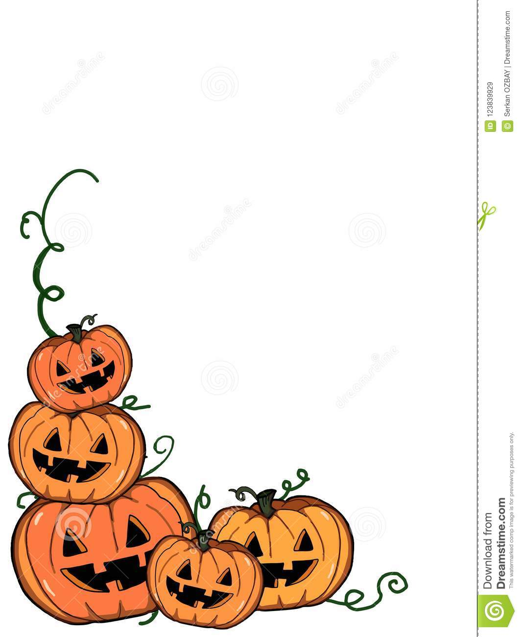 Halloween Pumpkin Drawing Picture.Halloween Pumpkin Illustration Drawing White Backgroun Stock