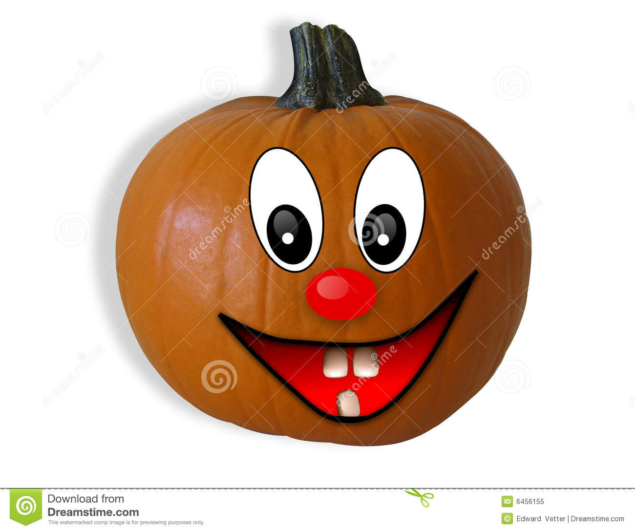 Halloween Pumpkin Isolated Happy Face Stock Illustration ...