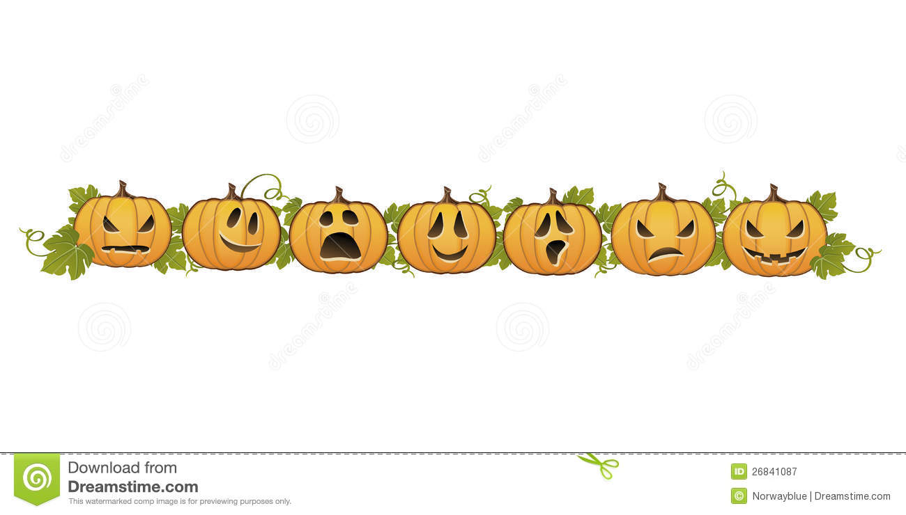 Halloween Pumpkin Line Decoration Royalty Free Stock Photography ...