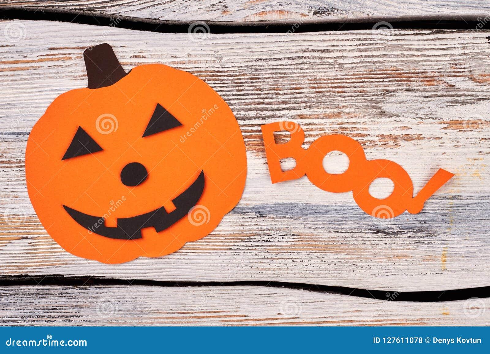 Halloween Pumpkin Paper Silhouette Stock Photo Image Of Design