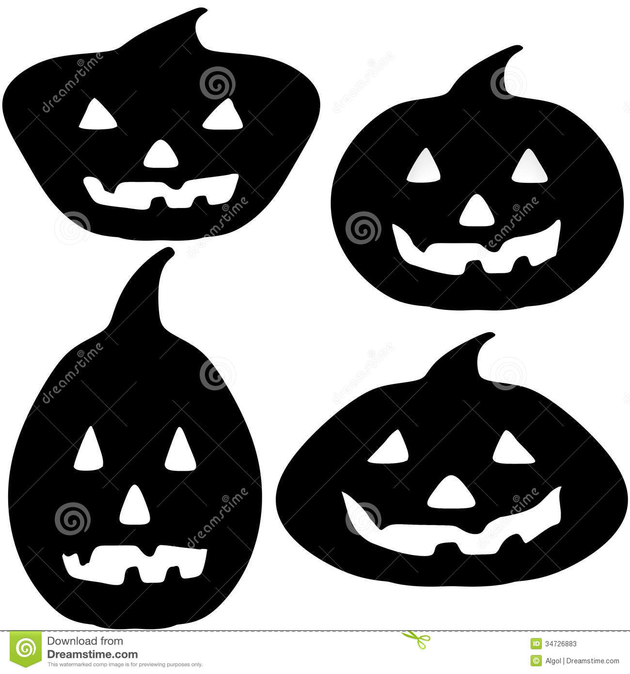 Halloween pumpkin silhouette illustrations stock photos for Pumpkin carving silhouettes
