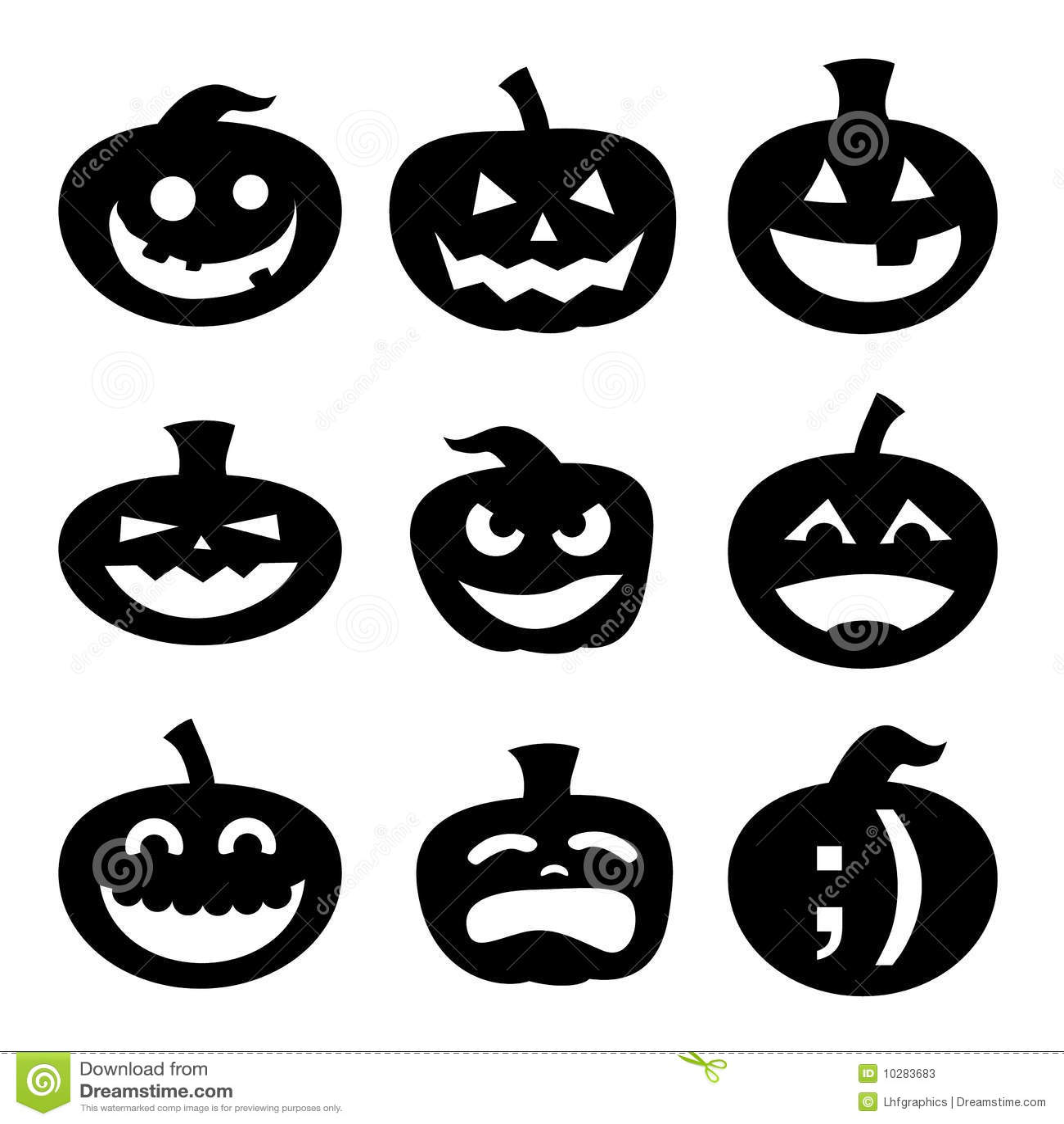 evil jack o lantern drawing