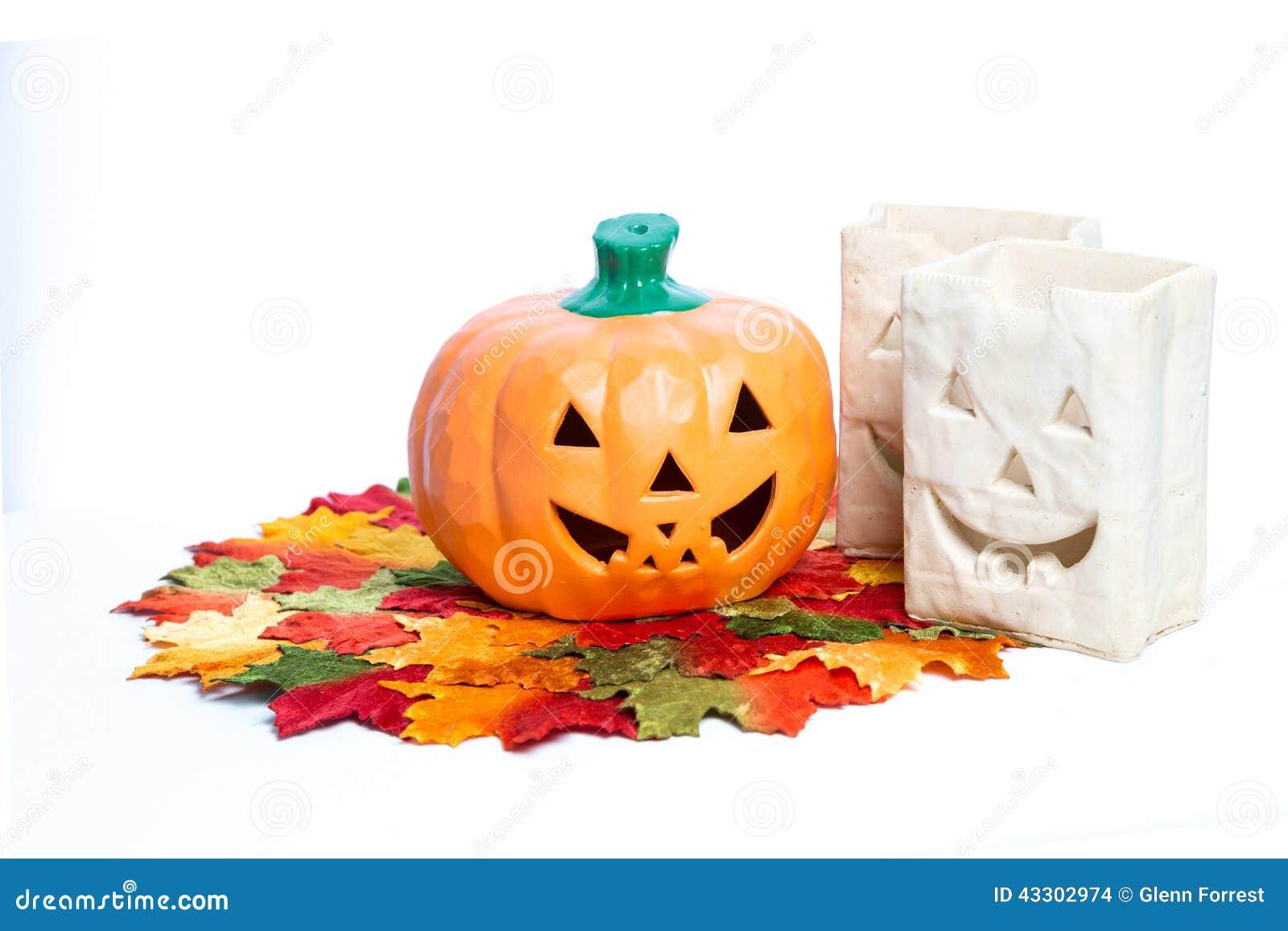 Halloween Pumpkins And Candles Stock Photo Image Of Halloween Christmas 43302974