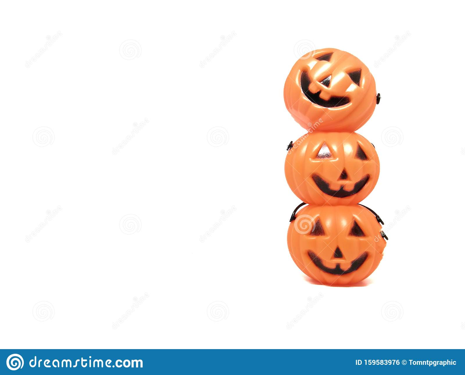 Halloween Pumpkins Halloween Day White Background Orange