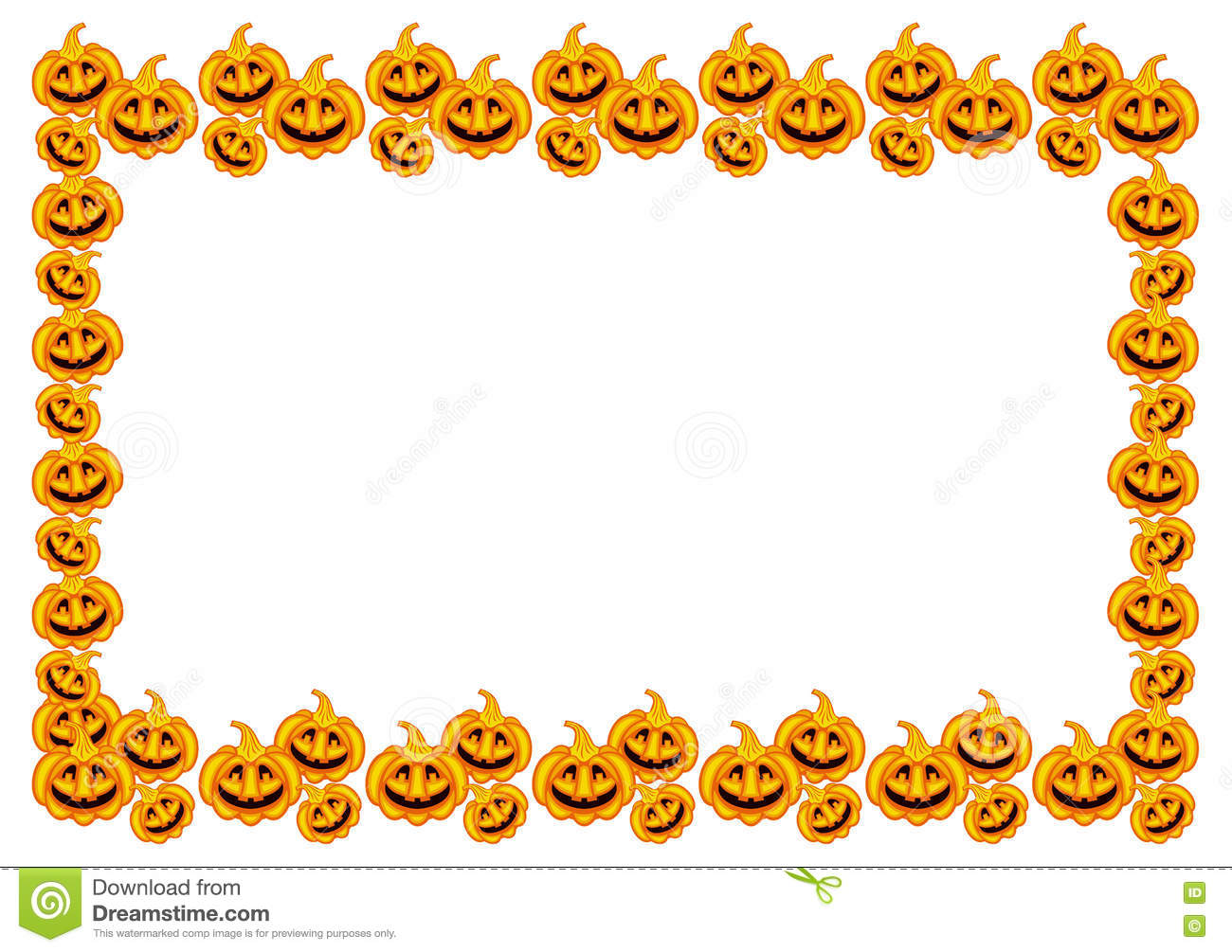 halloween pumpkins horizontal frame stock illustration Happy Pumpkin Clip Art Cartoon Pumpkin Clip Art