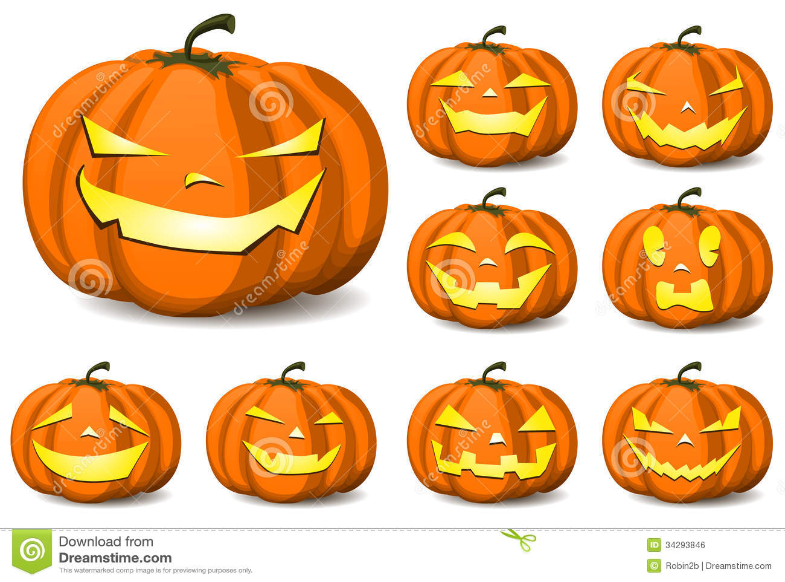 Halloween Pumpkins Royalty Free Stock Image Image 34293846
