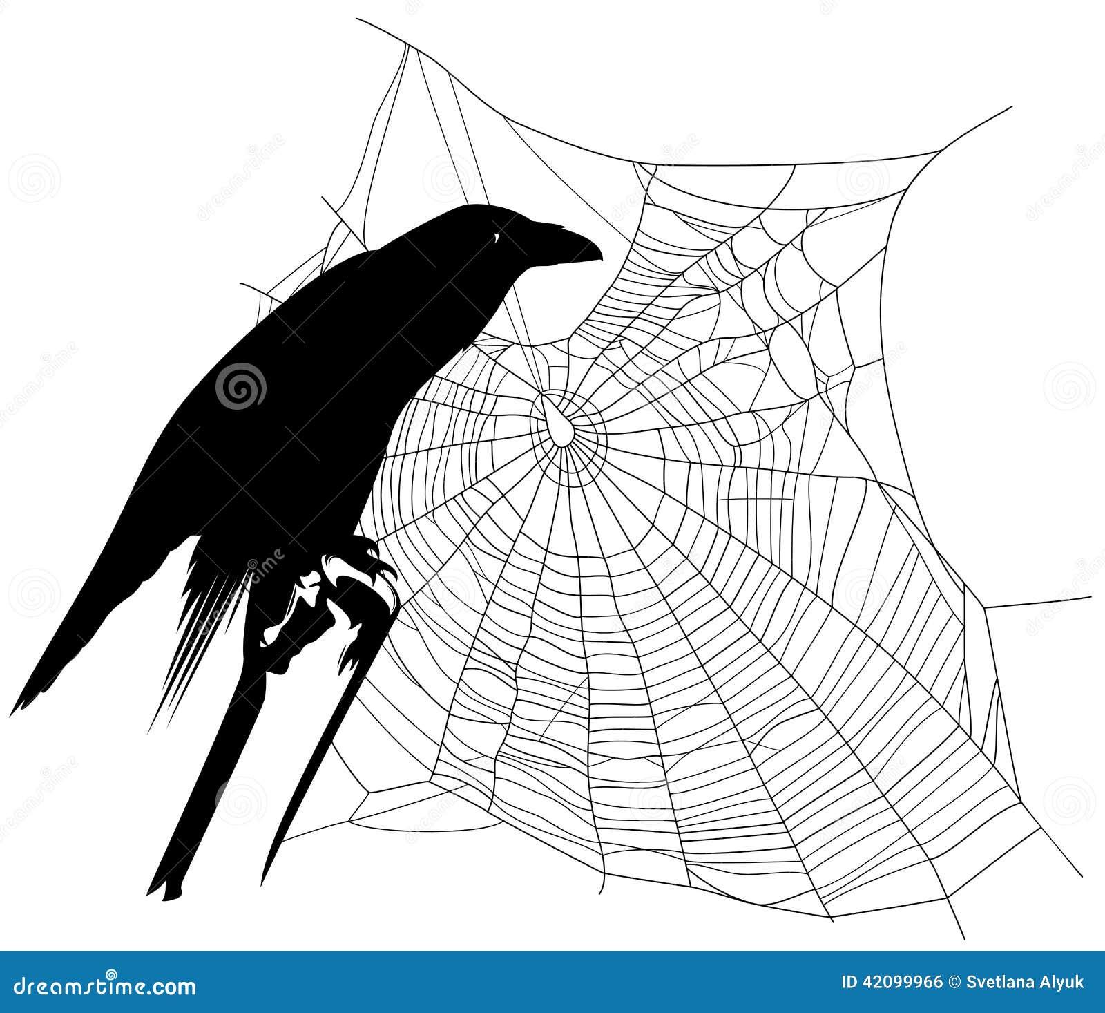 halloweenrabe vektor abbildung illustration von übel