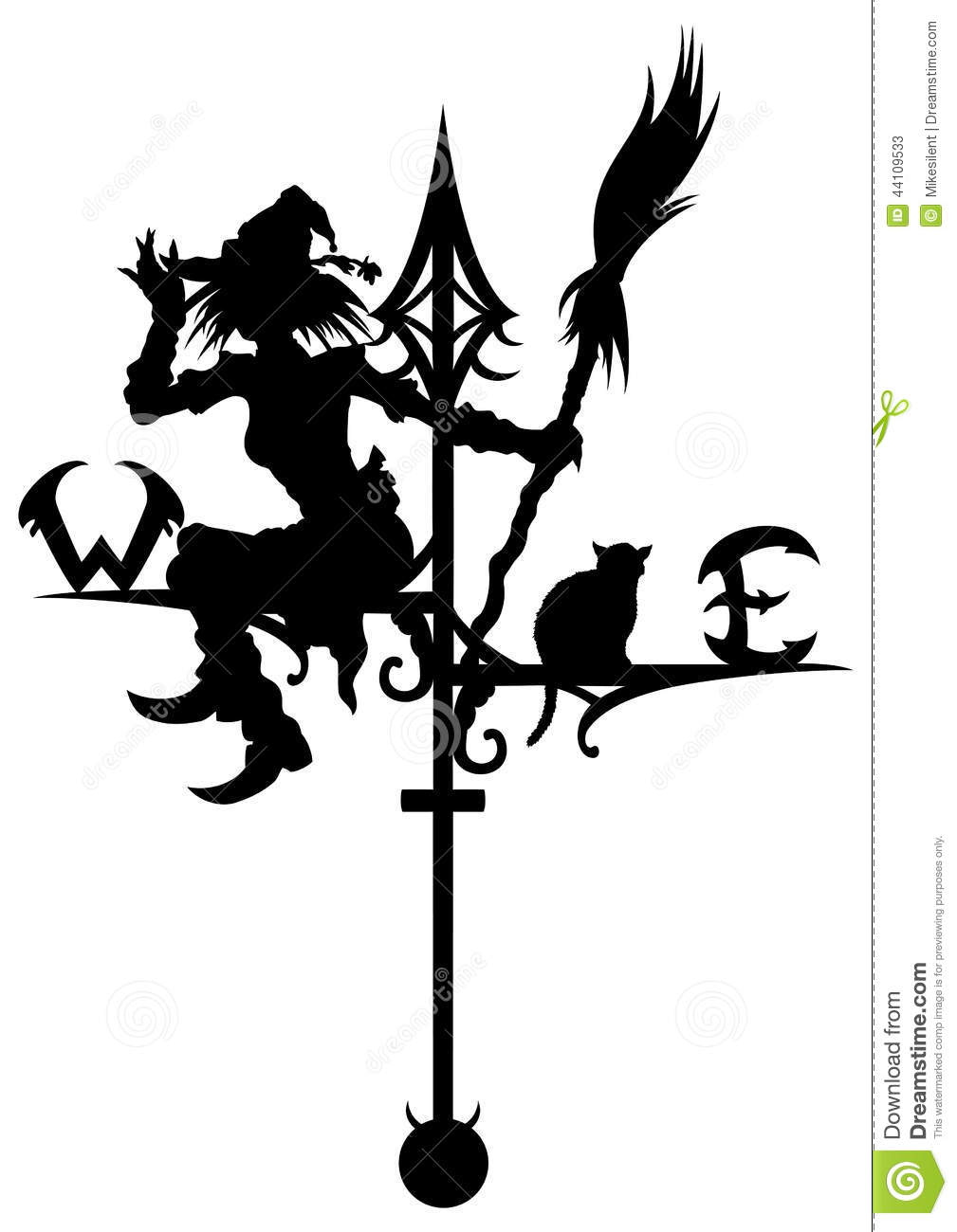 how to draw a wind vane