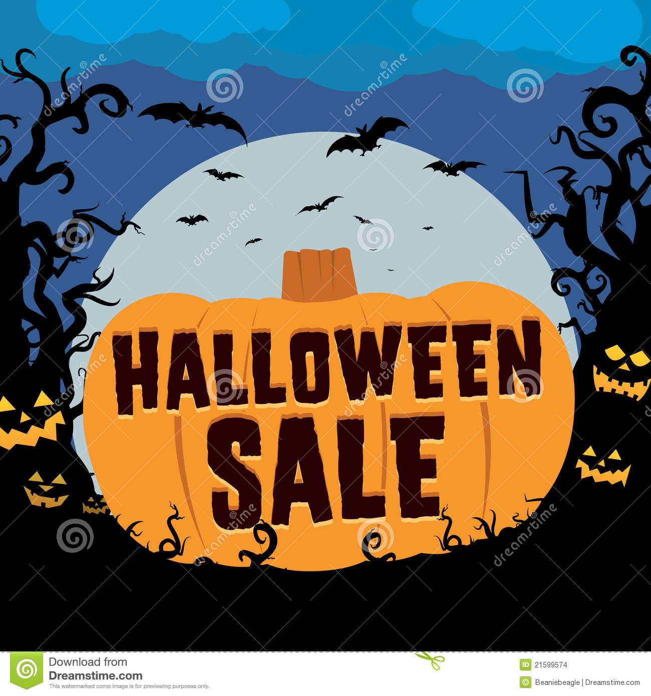 Halloween Sale Stock Images - Image: 21599574