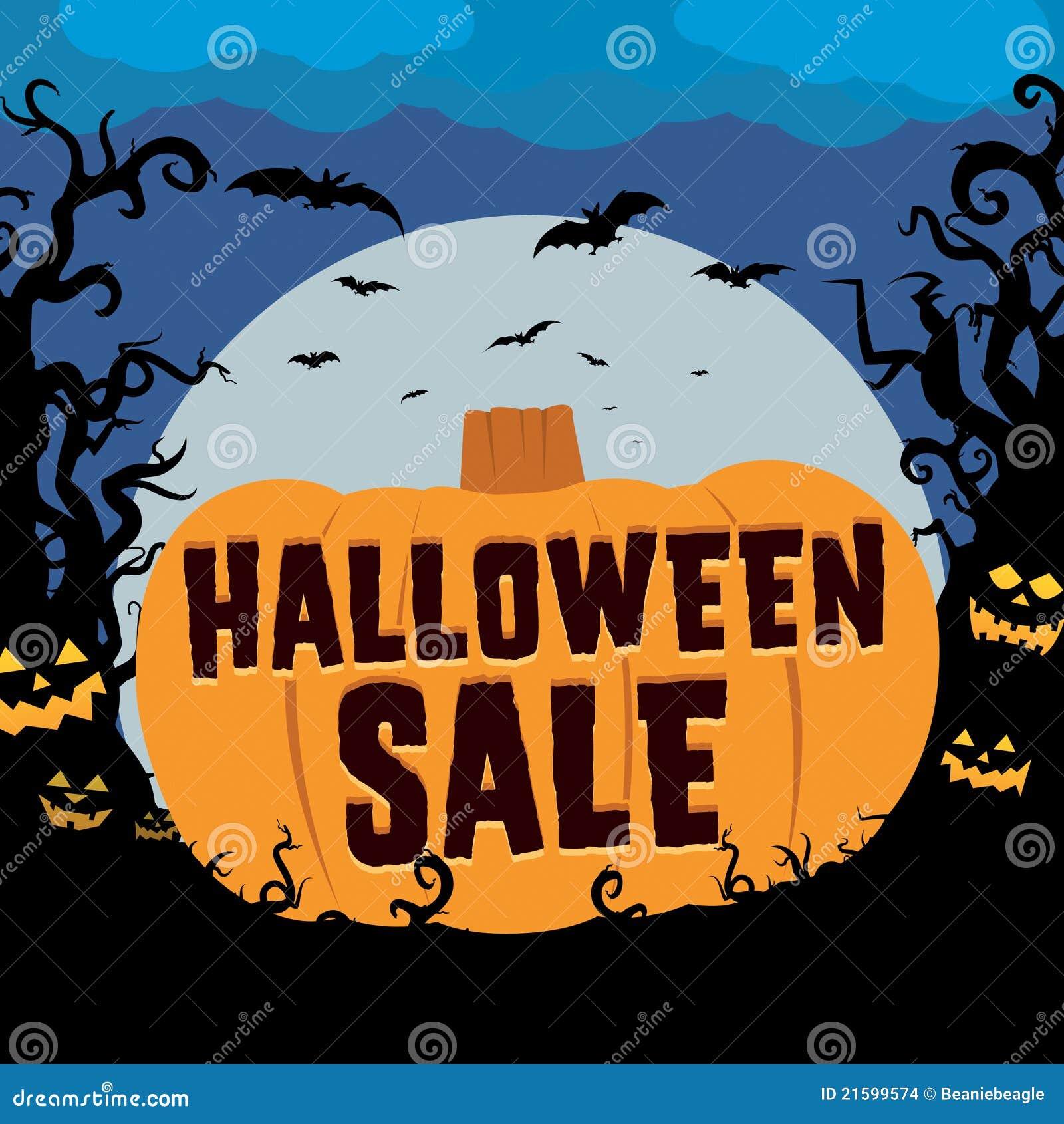 Halloween Sale stock vector. Illustration of sale, seasonal - 21599574
