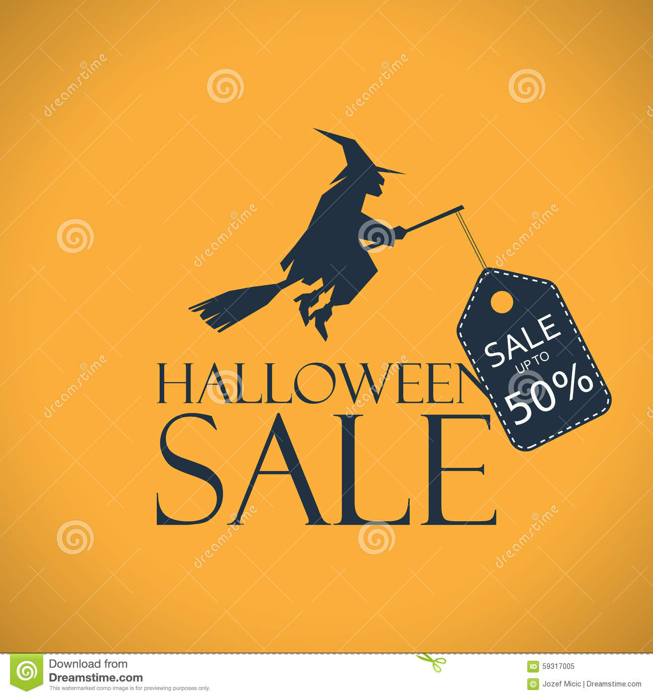 Halloween Sale Background. Seasonal Clearance Stock Vector ...
