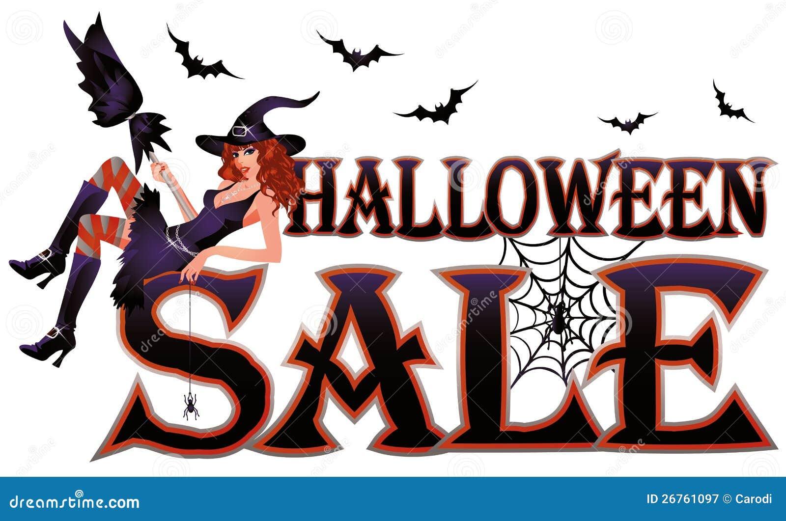 Halloween sale banner stock vector. Illustration of sale - 26761097