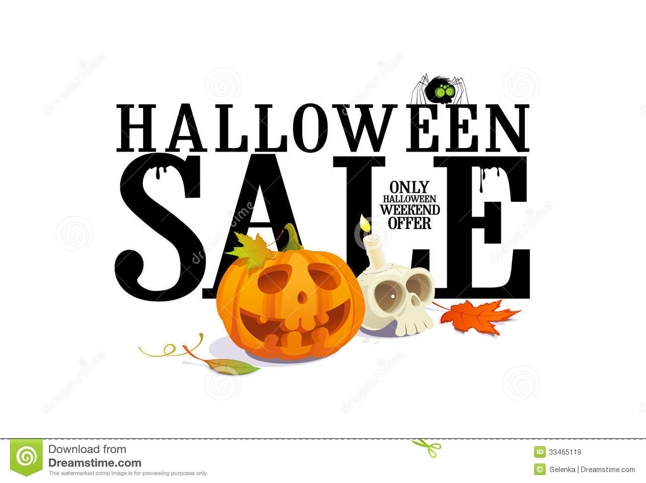 Halloween Sale Offer Design. Royalty Free Stock Images - Image ...