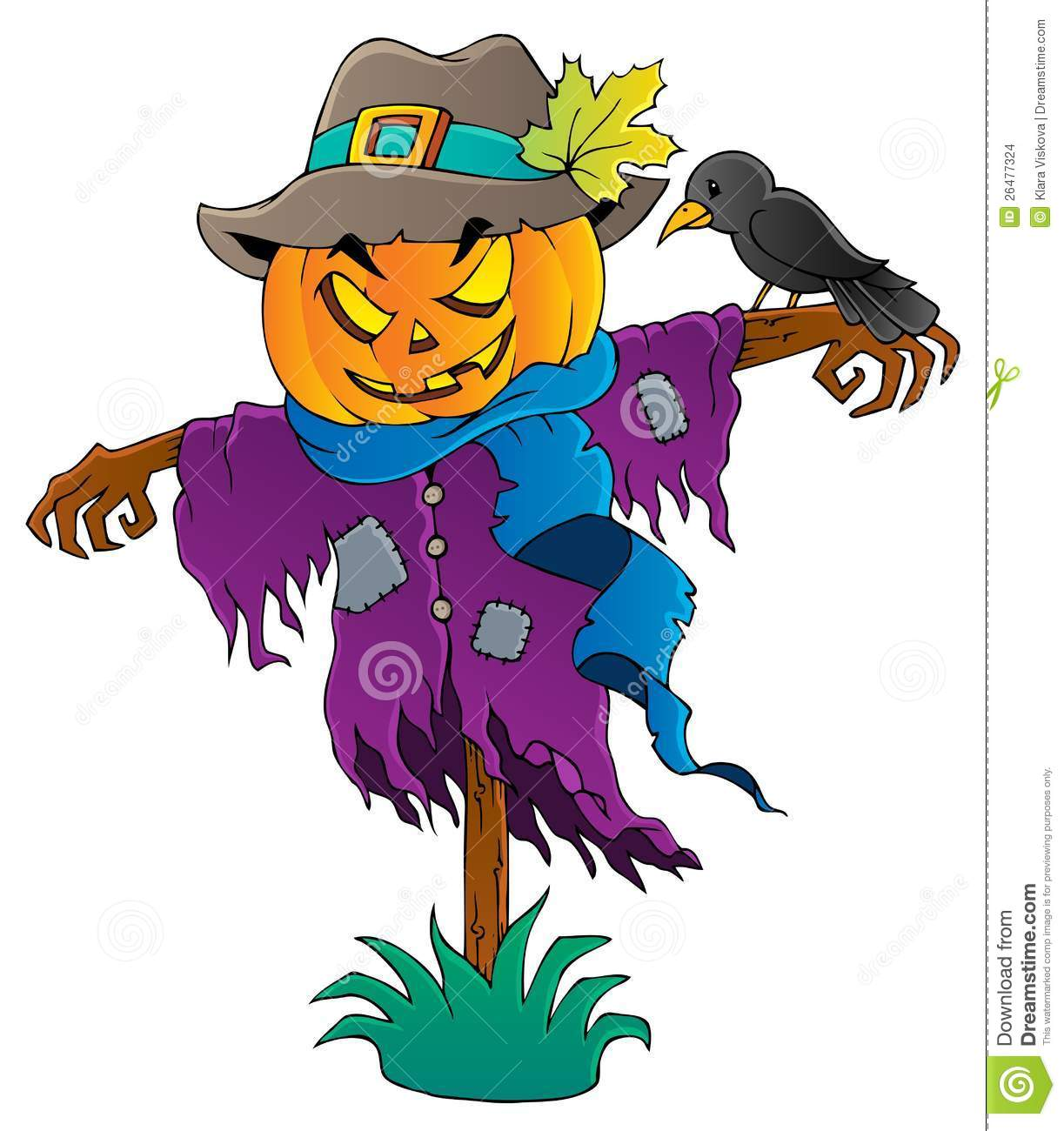 halloween scarecrow theme image 1 stock vector image crown clipart black and white crow clip art images