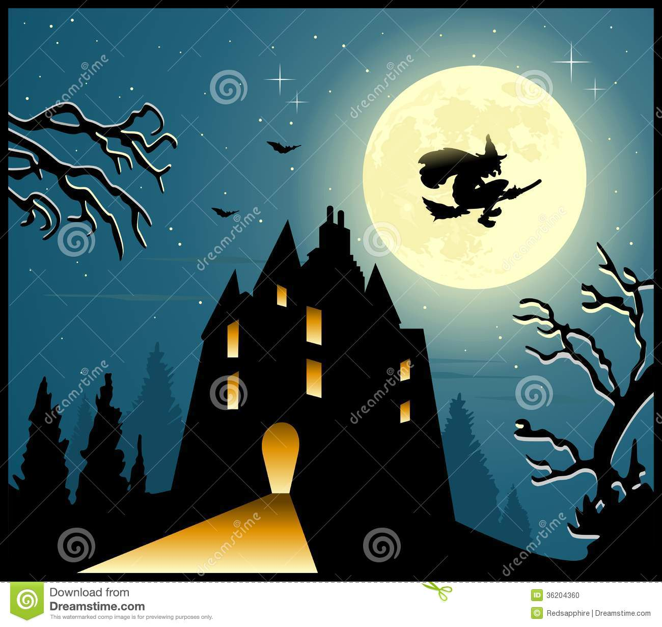 Halloween Scary Background Stock Photo Image 36204360