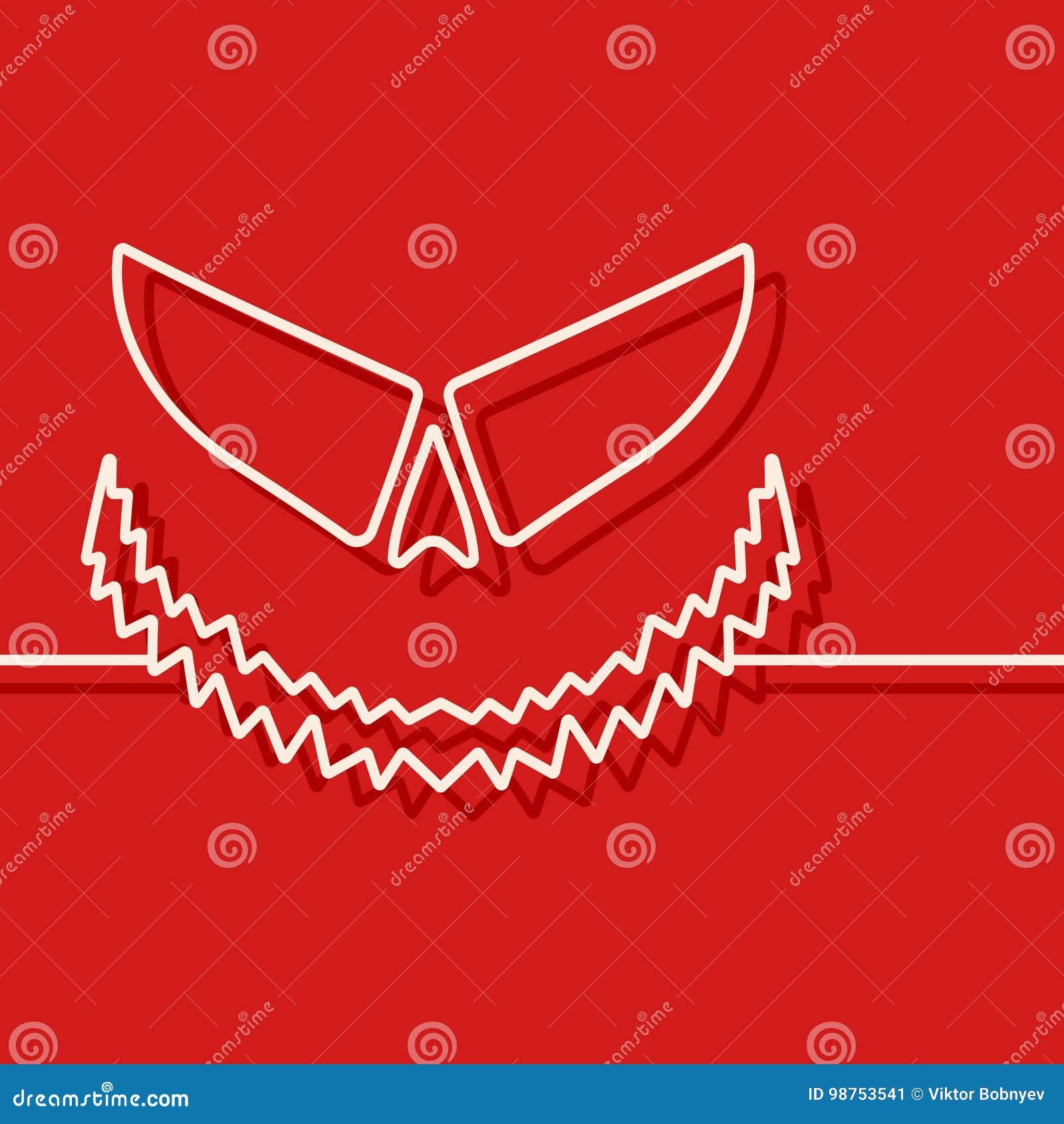 Halloween Scary Pumpkin Template Stock Vector - Illustration of ...
