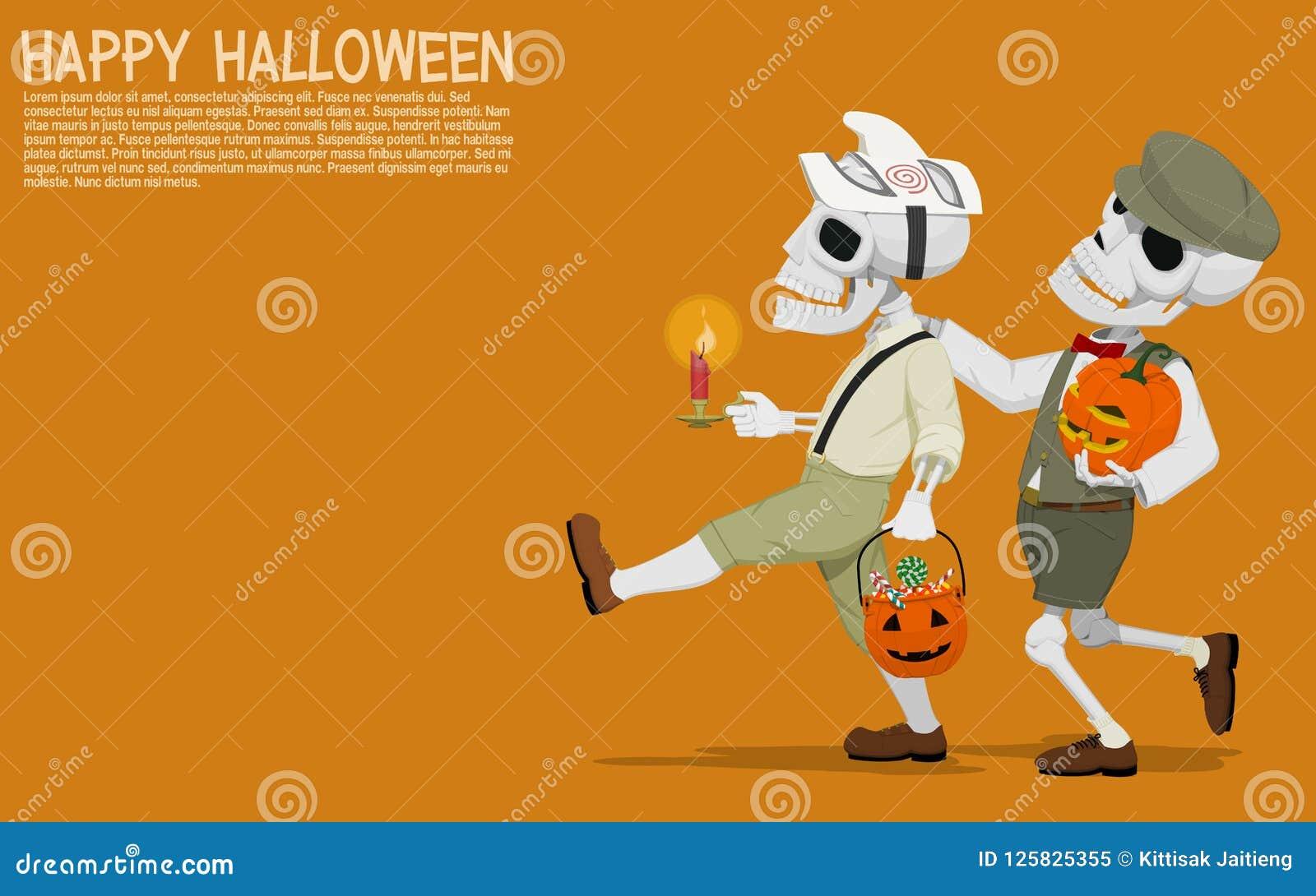 Halloween-schedelkinderen