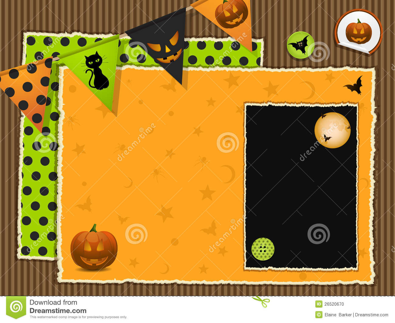 Halloween scrapbook background