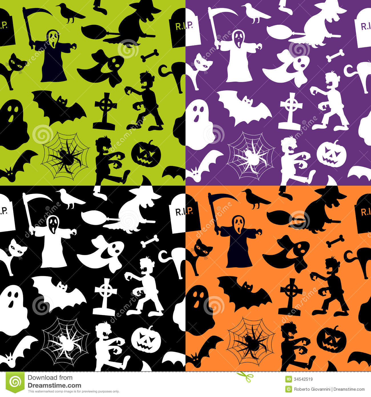 halloween seamless patterns royalty free stock images image