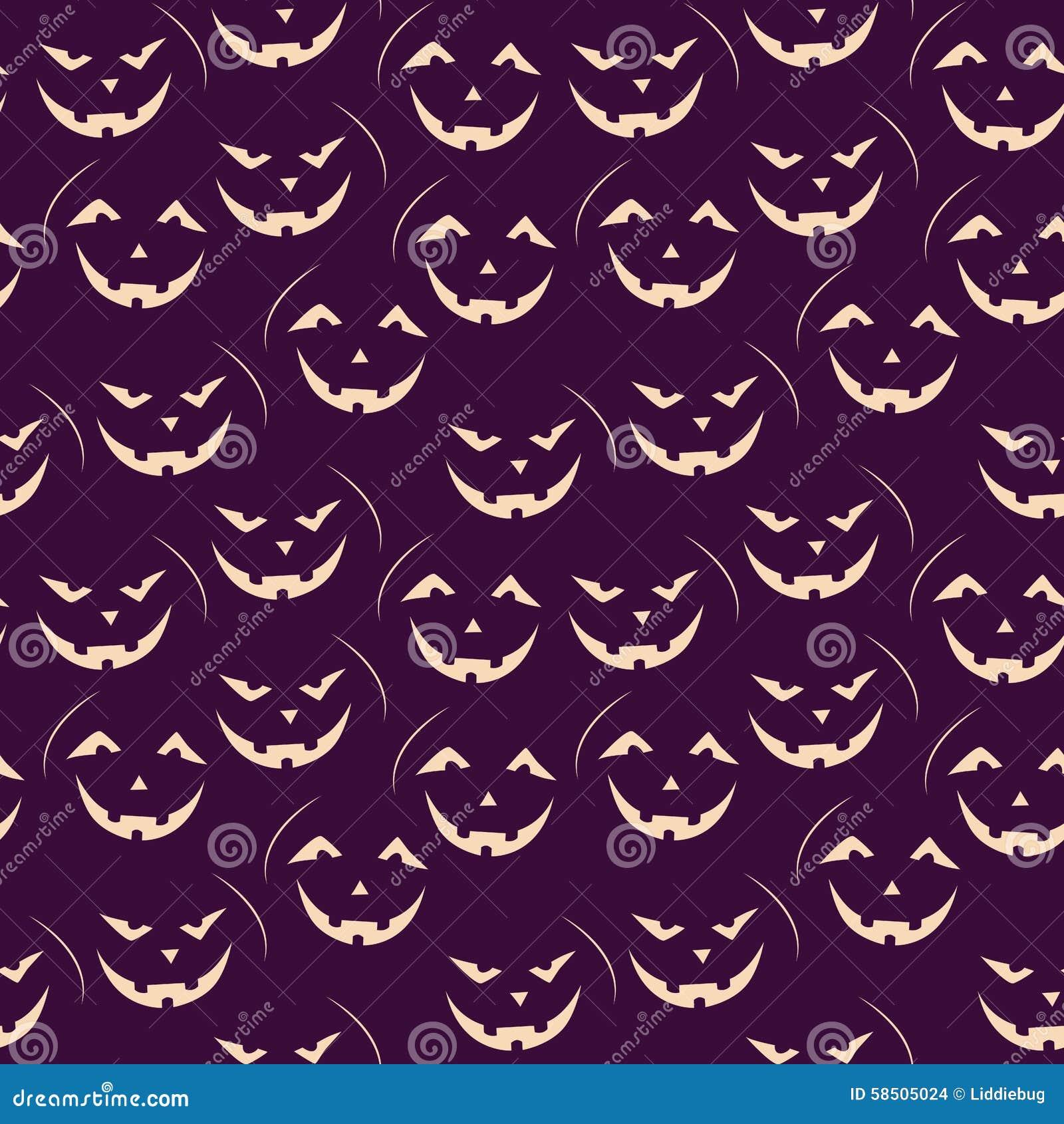 Halloween seamless patterns stock vector image