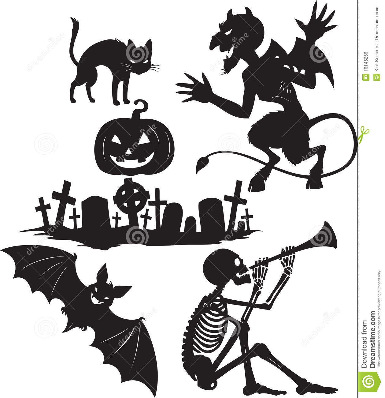 Halloween Shapes Royalty Free Stock Image Image 16145266