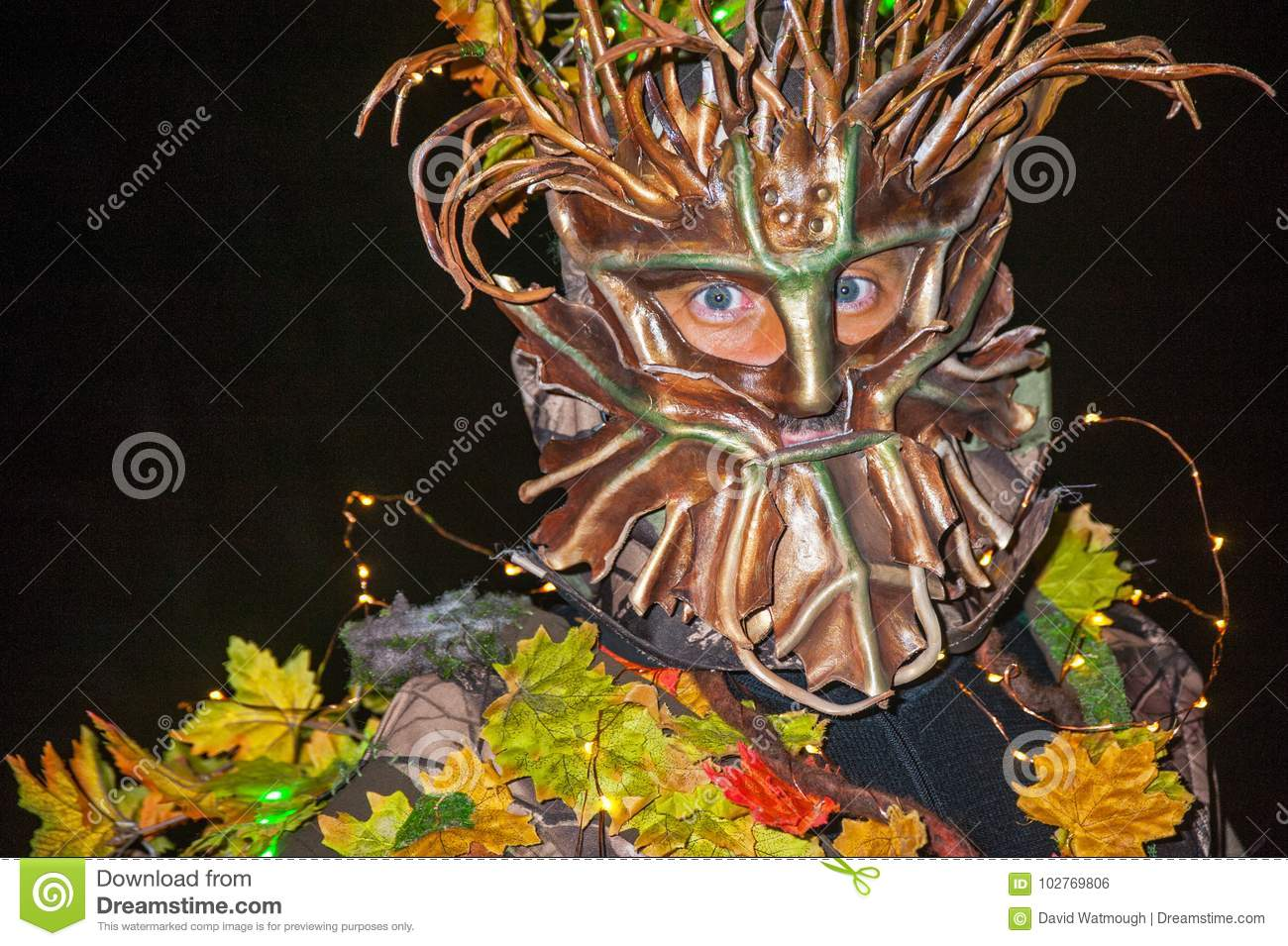 Portrait of Mother Nature at Halloween