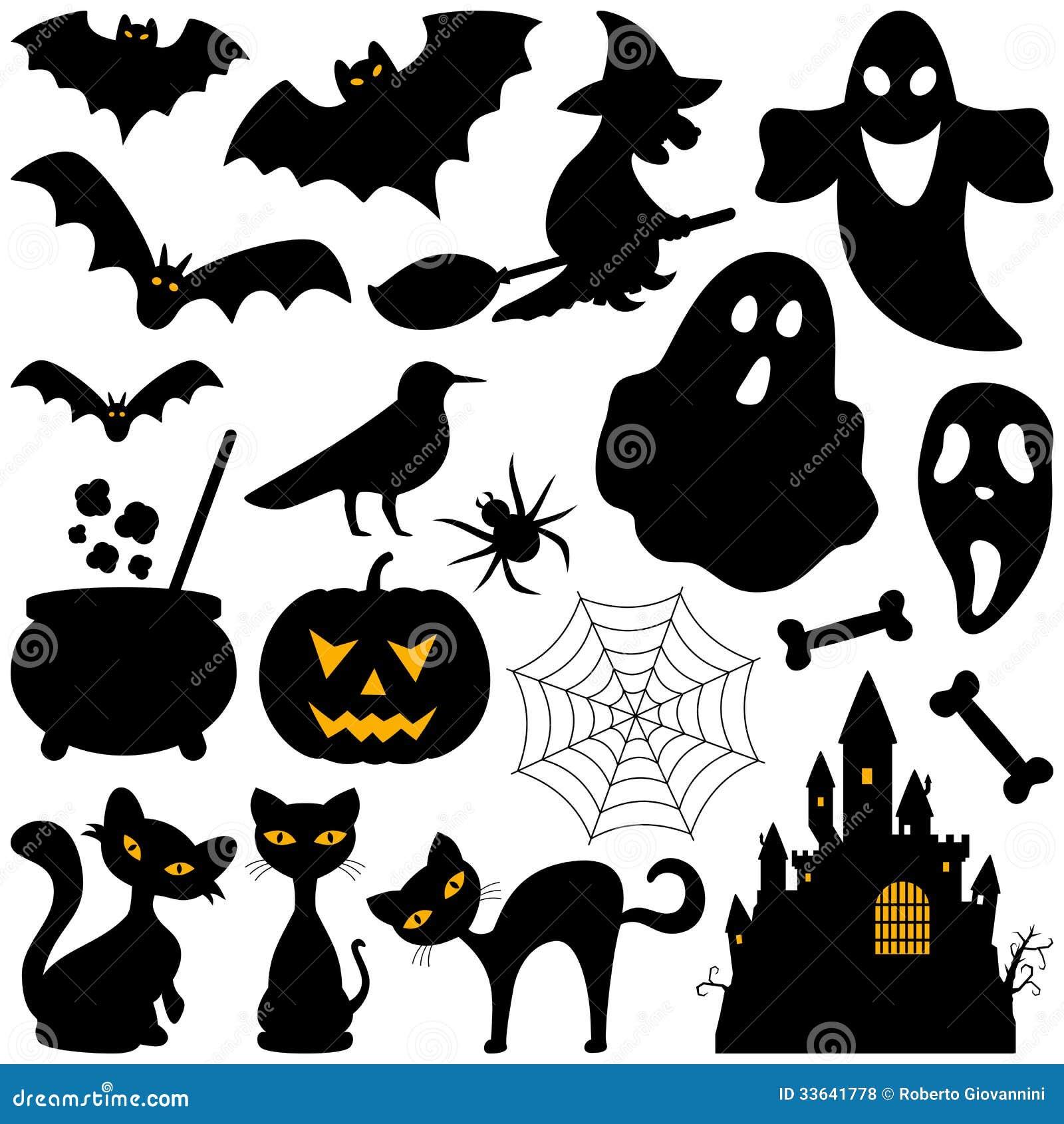 halloween silhouette des  u00e9l u00e9ments illustration de vecteur black cat clip art cartoon black cat clip art black and white