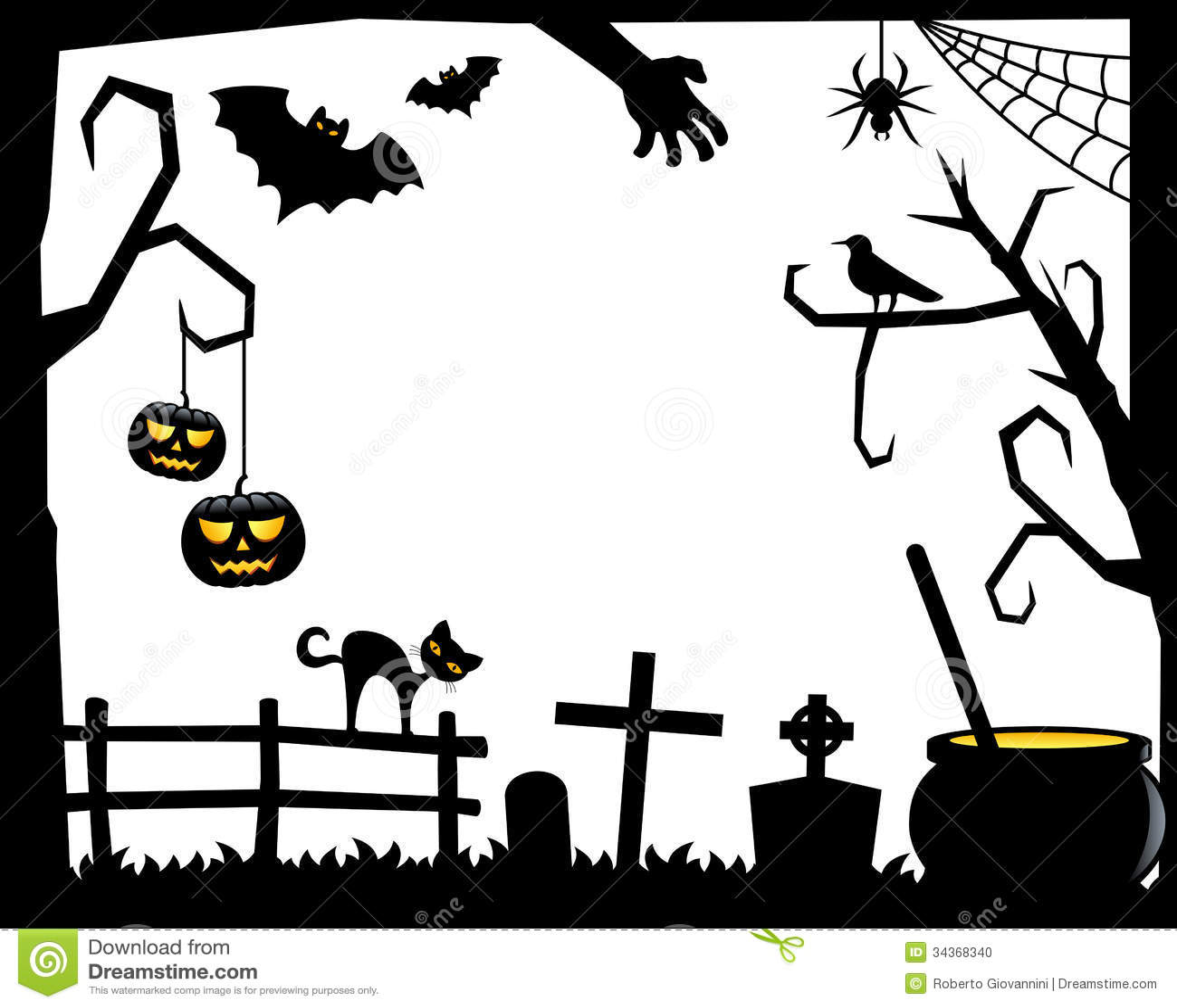 halloween silhouette cat