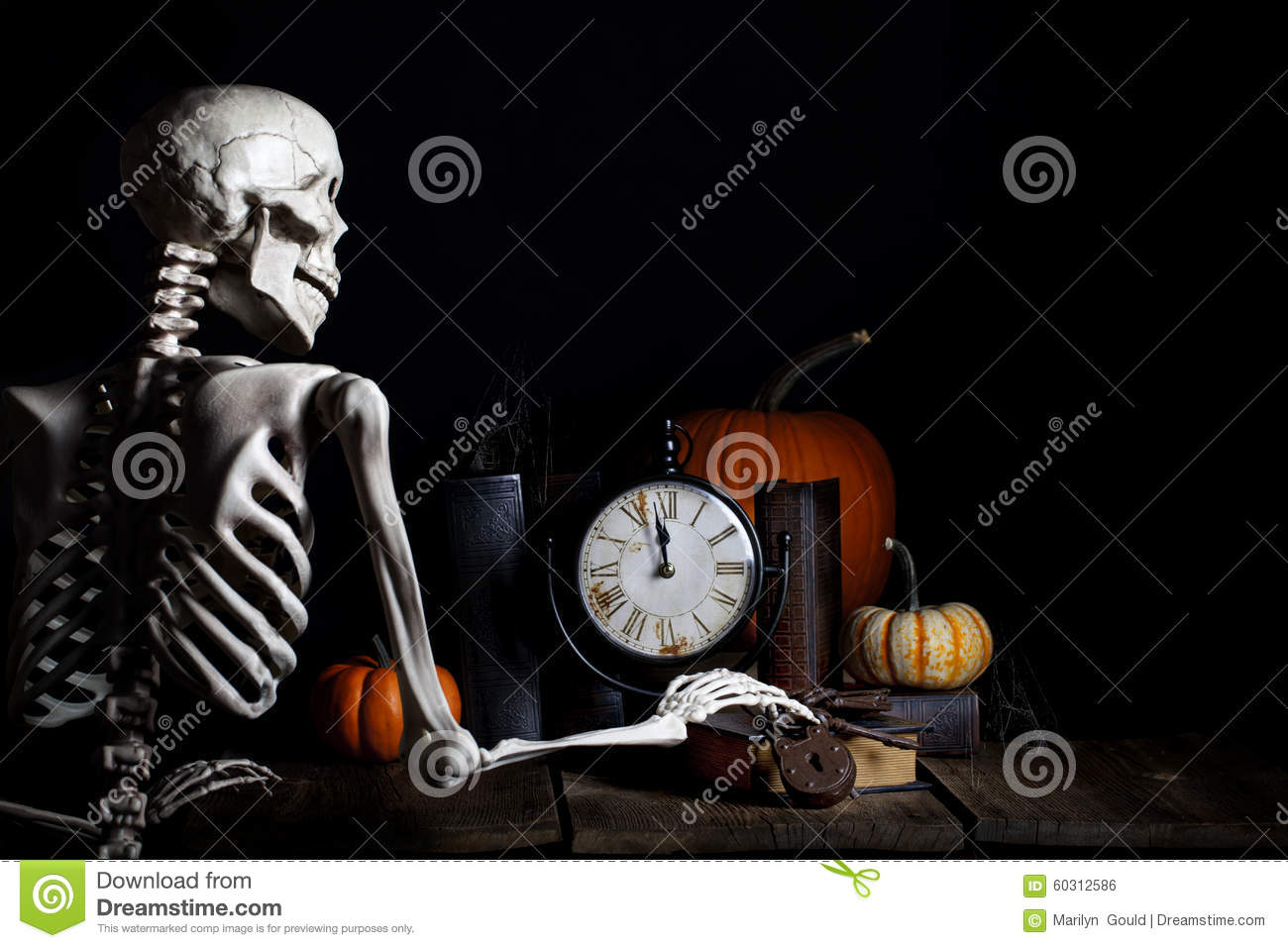 Download Halloween Skeleton stock photo. Image of haunting, bones - 60312586