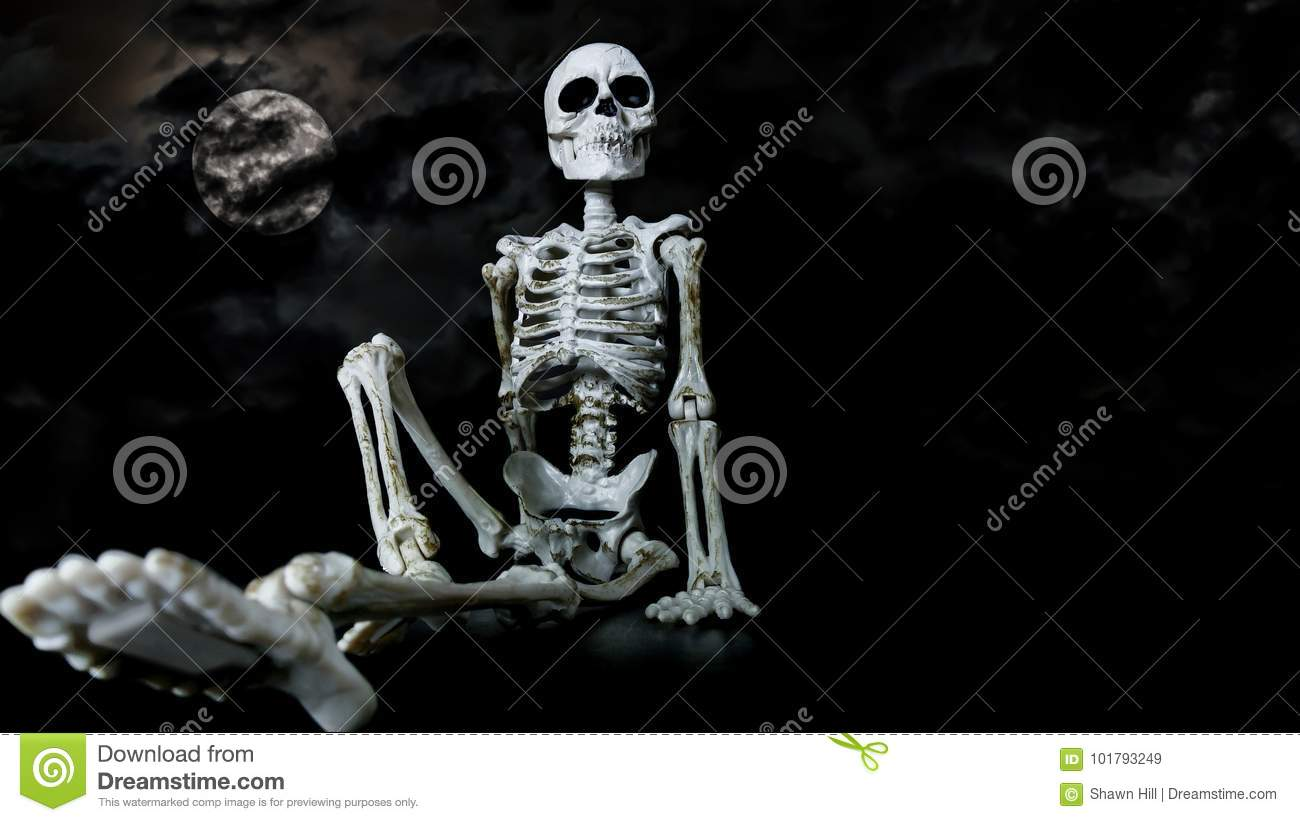 Halloween Skeleton Chilling