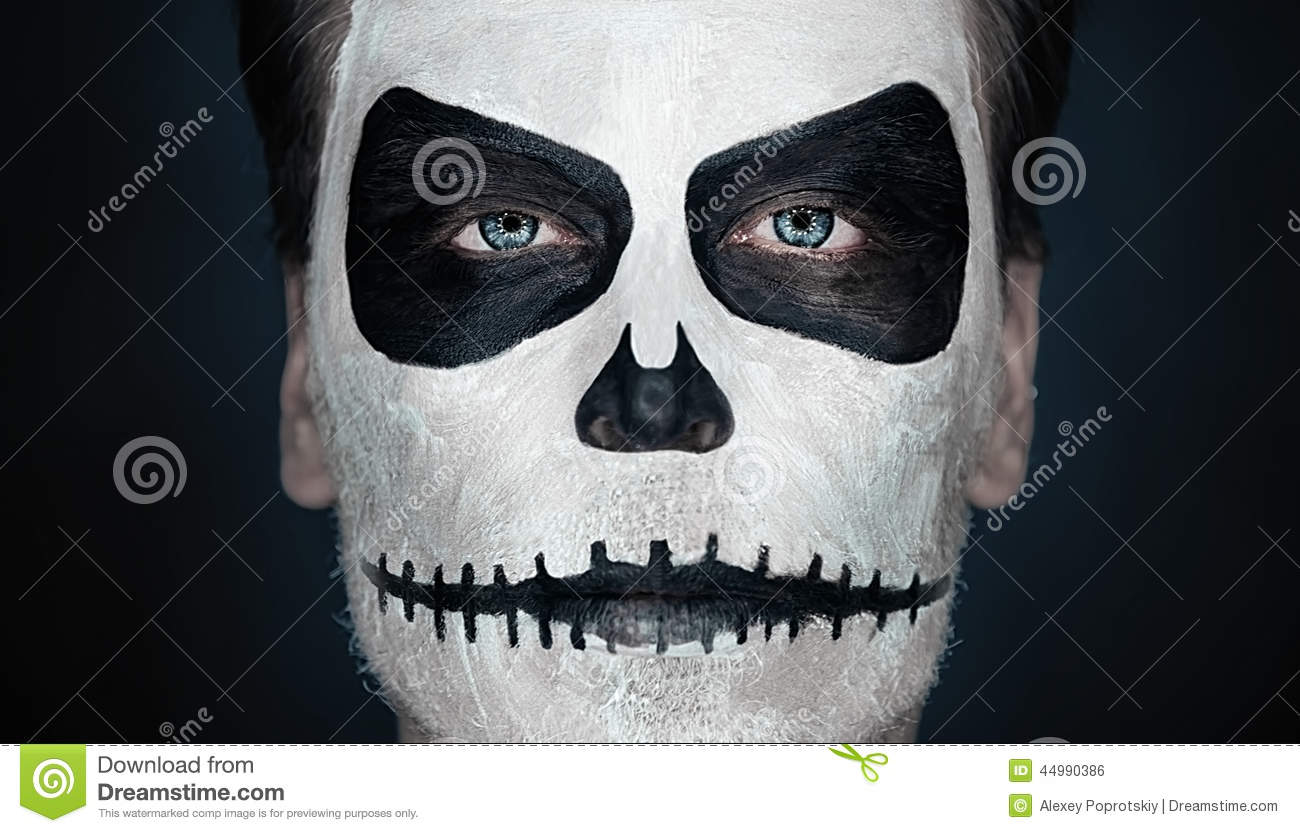 halloween skull man stock photo image of dark spooky. Black Bedroom Furniture Sets. Home Design Ideas