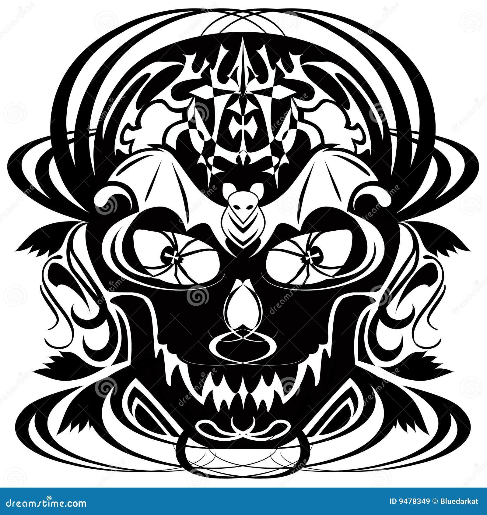 halloween skull tatoo royalty free stock images - Halloween Skull