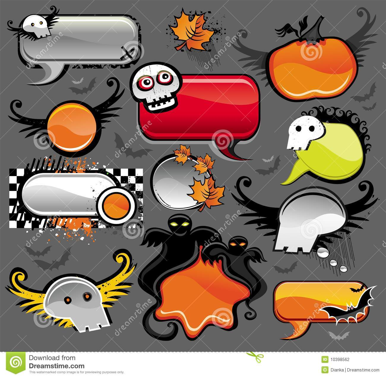 Halloween Speech Bubbles Stock Photography - Image: 10398562